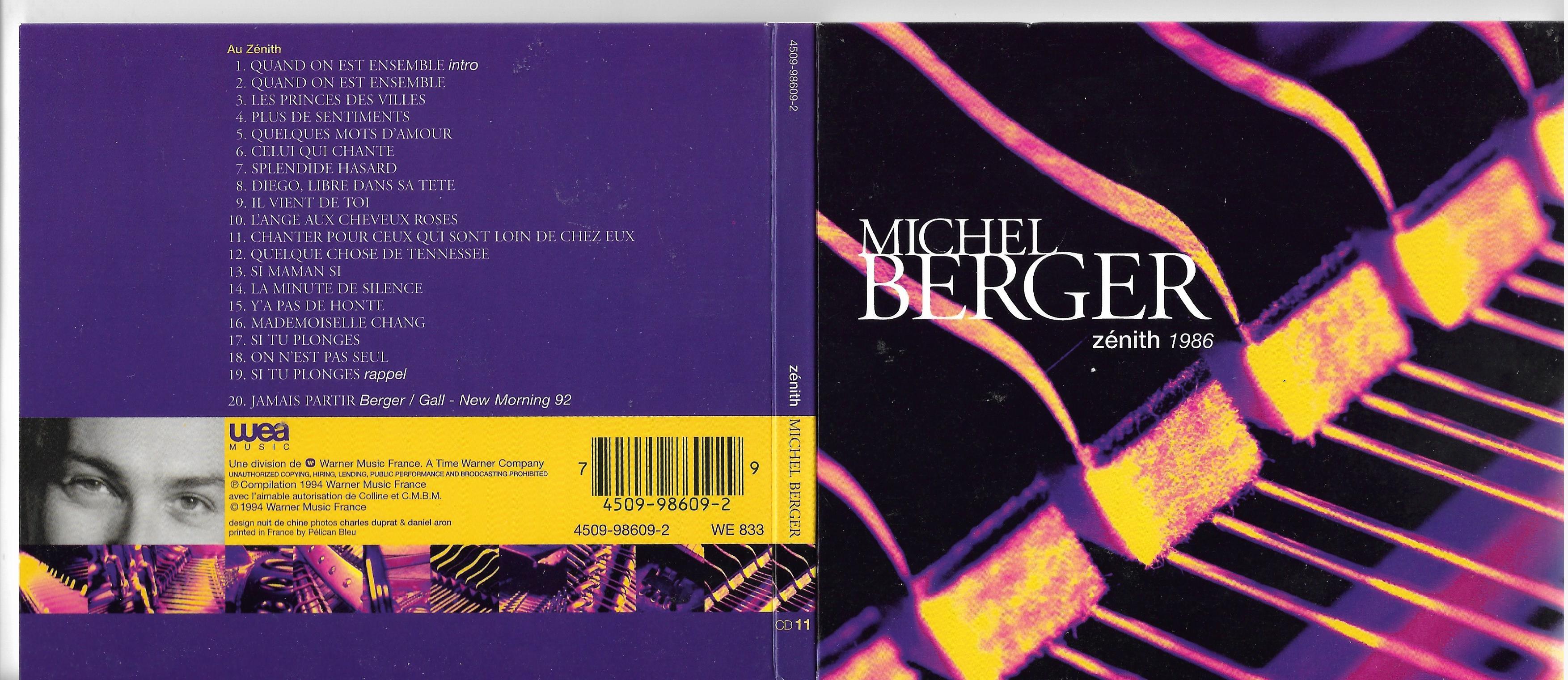 MICHEL BERGER - C'est difficile d'être un homme aussi 1978 à 1980 - CD