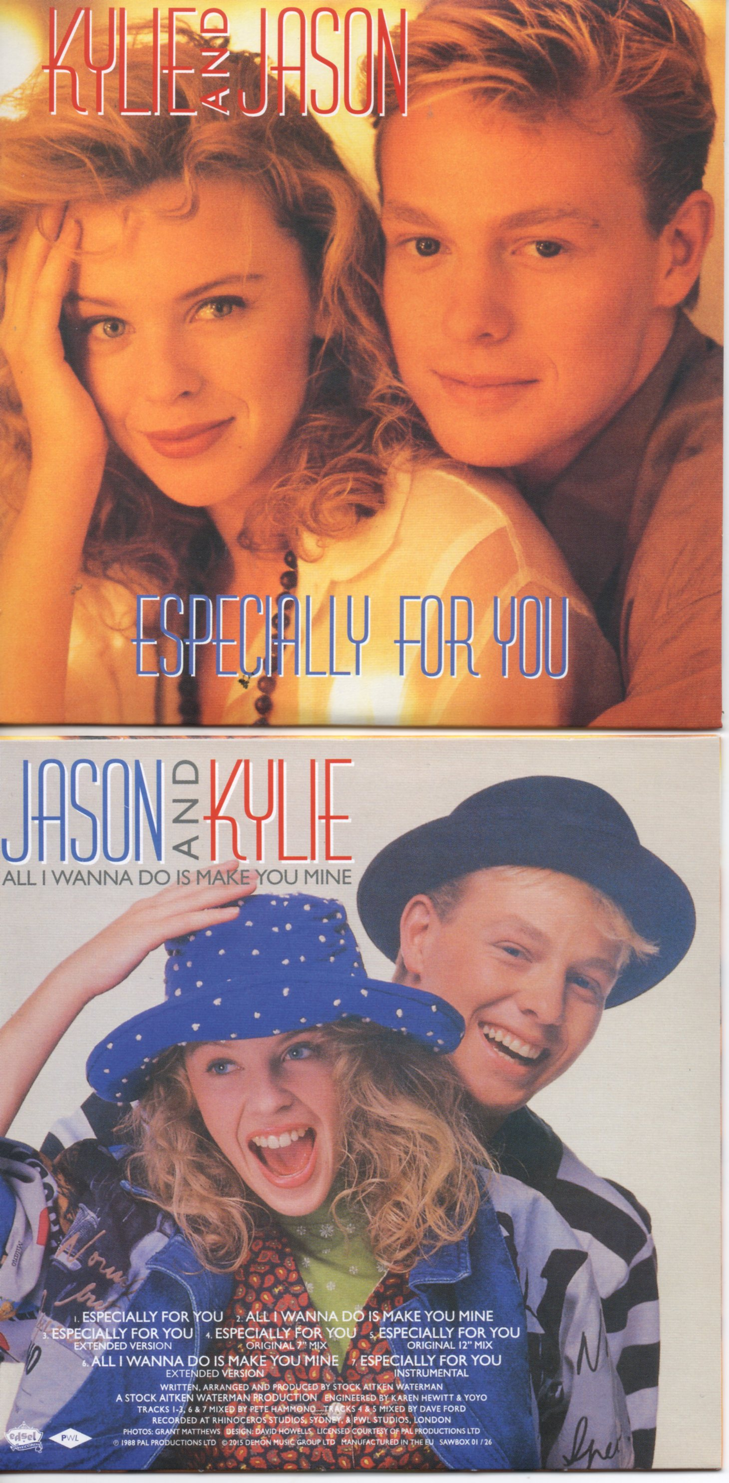 KYLIE MINOGUE & JASON DONOVAN - STOCK AITKEN WATERMAN - PWL - Especially For You - 7-track CARD SLEEVE REMIXES - CD single