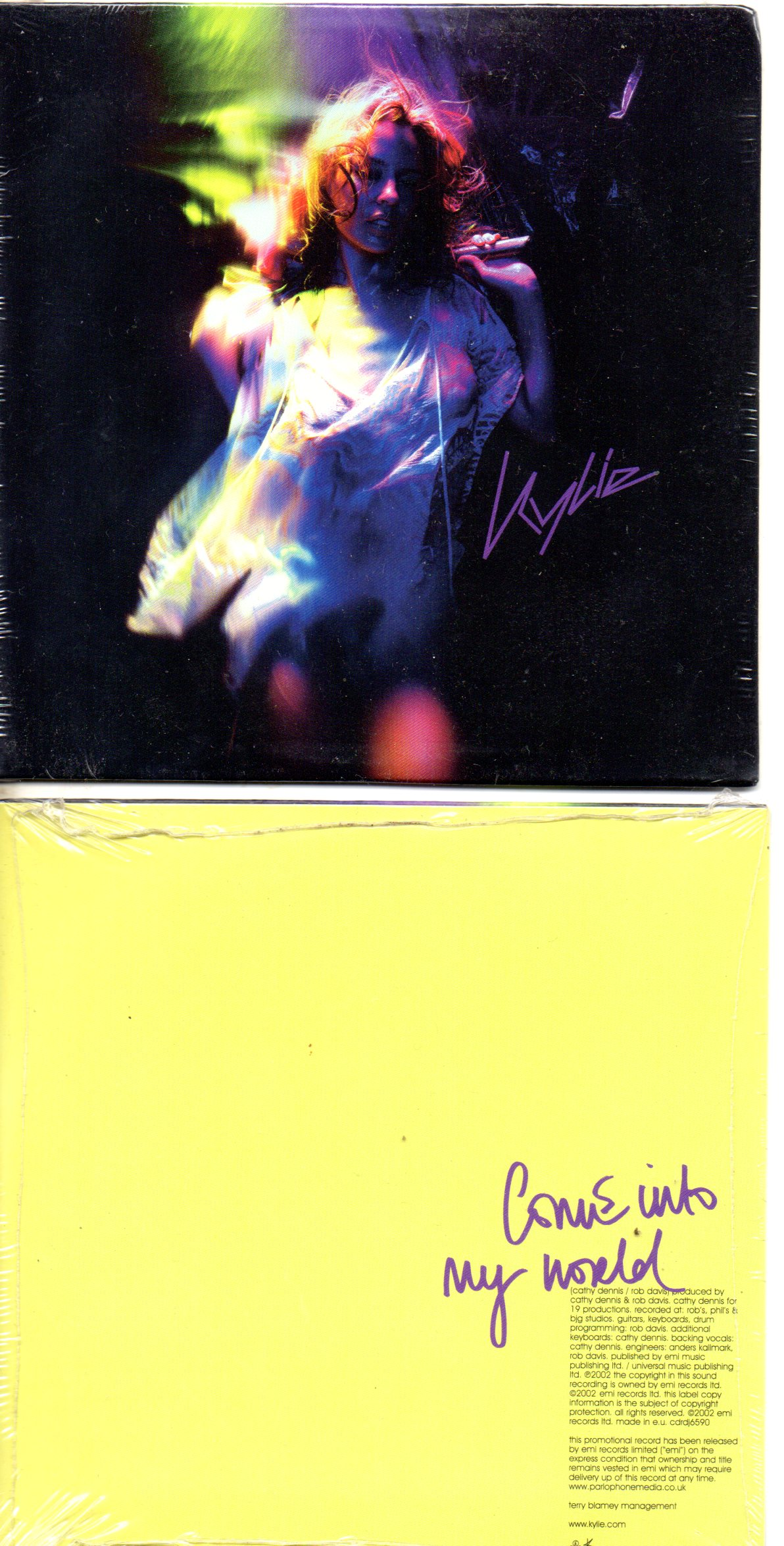 Come Into My World Promo 1 Track Card Sleeve - Kylie MINOGUE