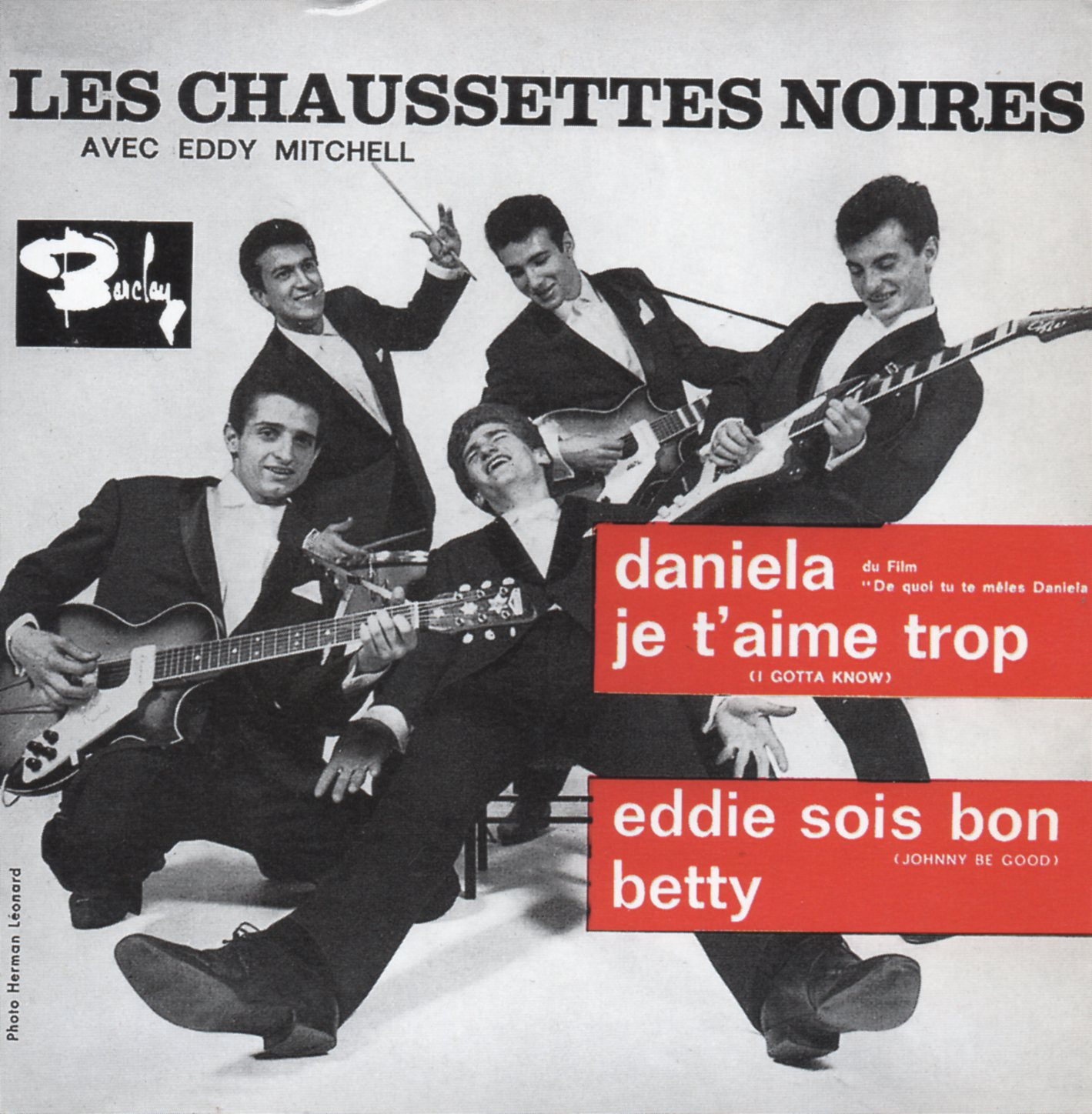 EDDY MITCHELL - LES CHAUSSETTES NOIRES - Daniela 4-TRACK CARD SLEEVE Edition Limitée - CD single