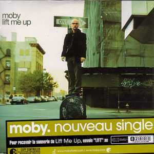 MOBY - Lift Me Up Card Sleeve 2-track French Sticker