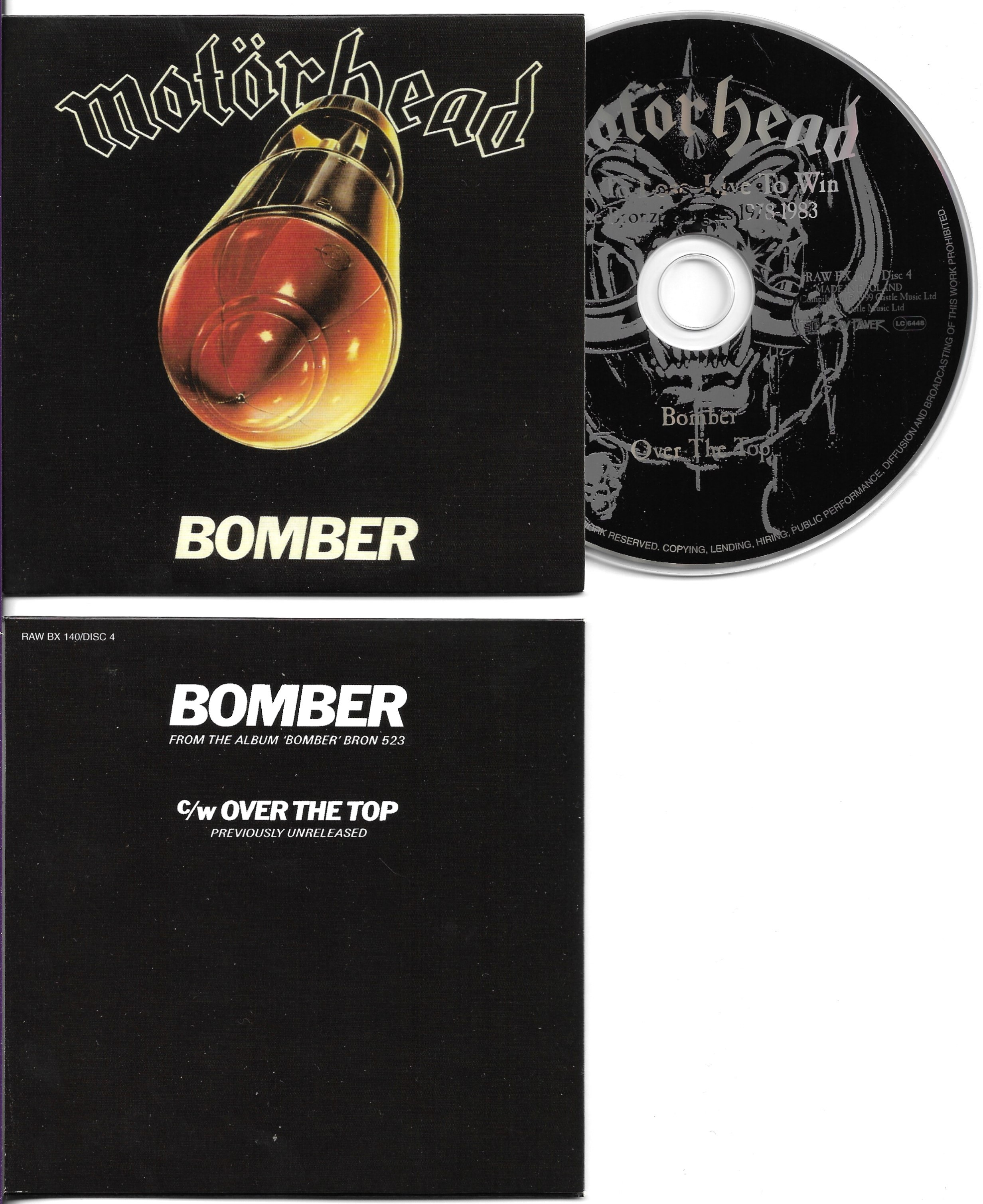 MOTÖRHEAD - Bomber 2-Track CARD SLEEVE - CD single