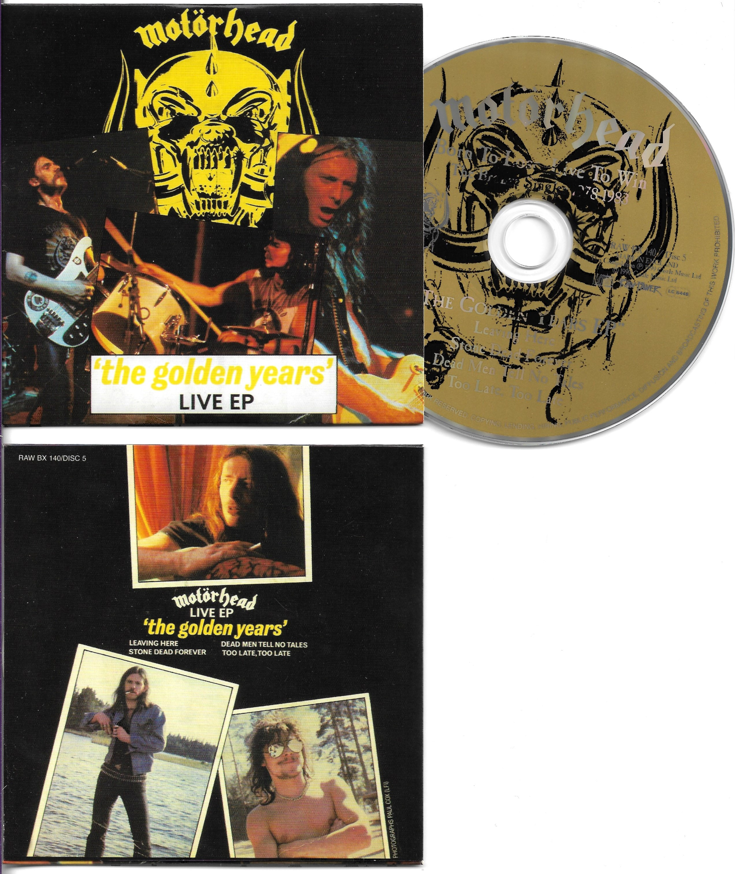 MOTÖRHEAD - The Golden Years EP  4-Track CARD SLEEVE - CD single