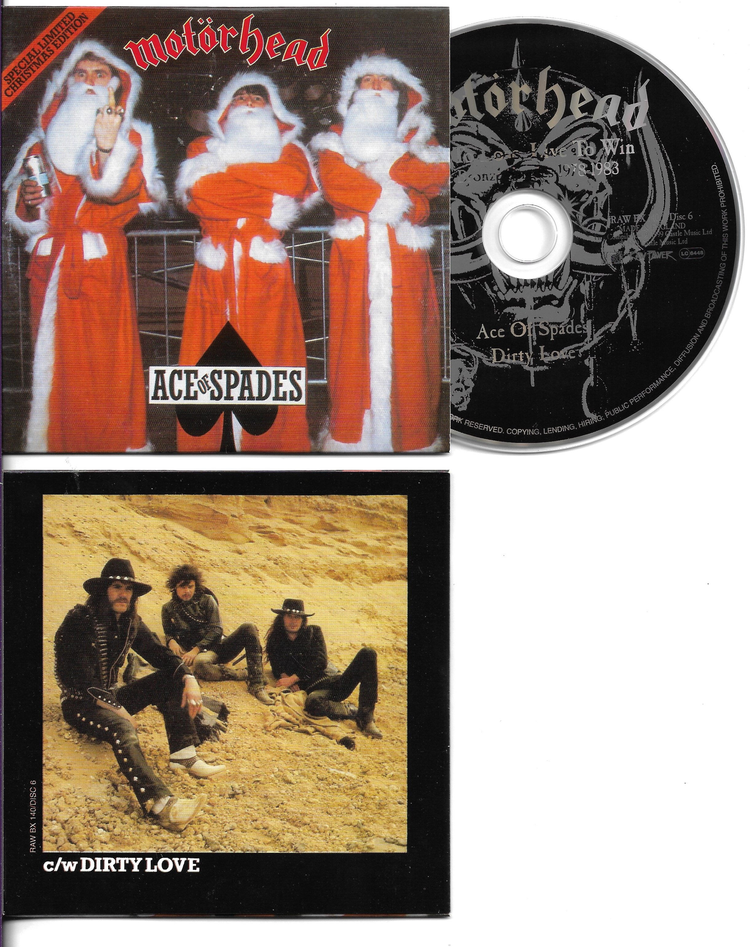 MOTÖRHEAD - Ace Of Spades - Christmas Edition -  2-Track CARD SLEEVE - CD single