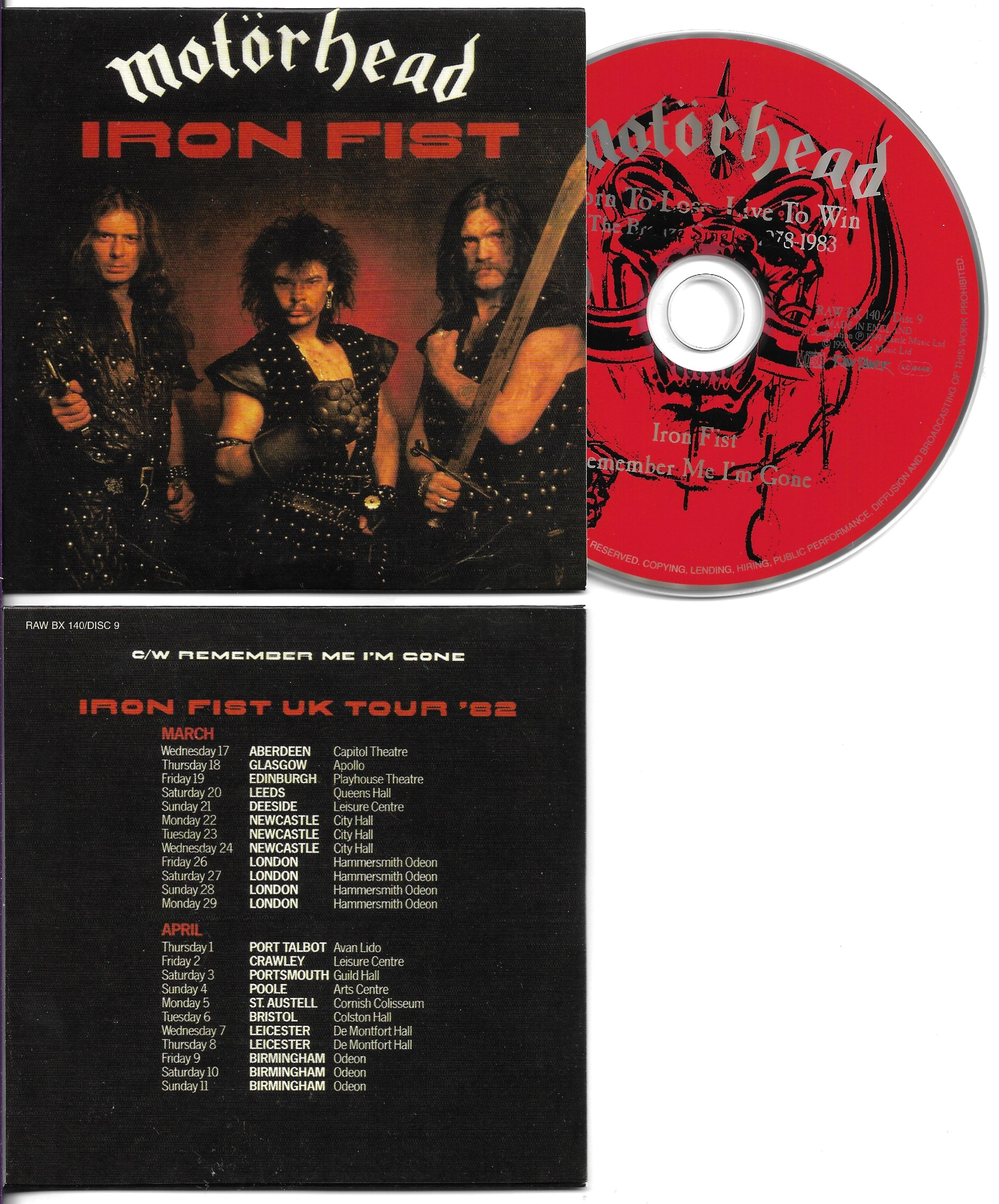 MOTÖRHEAD - Iron Fist - 2-Track CARD SLEEVE - CD single