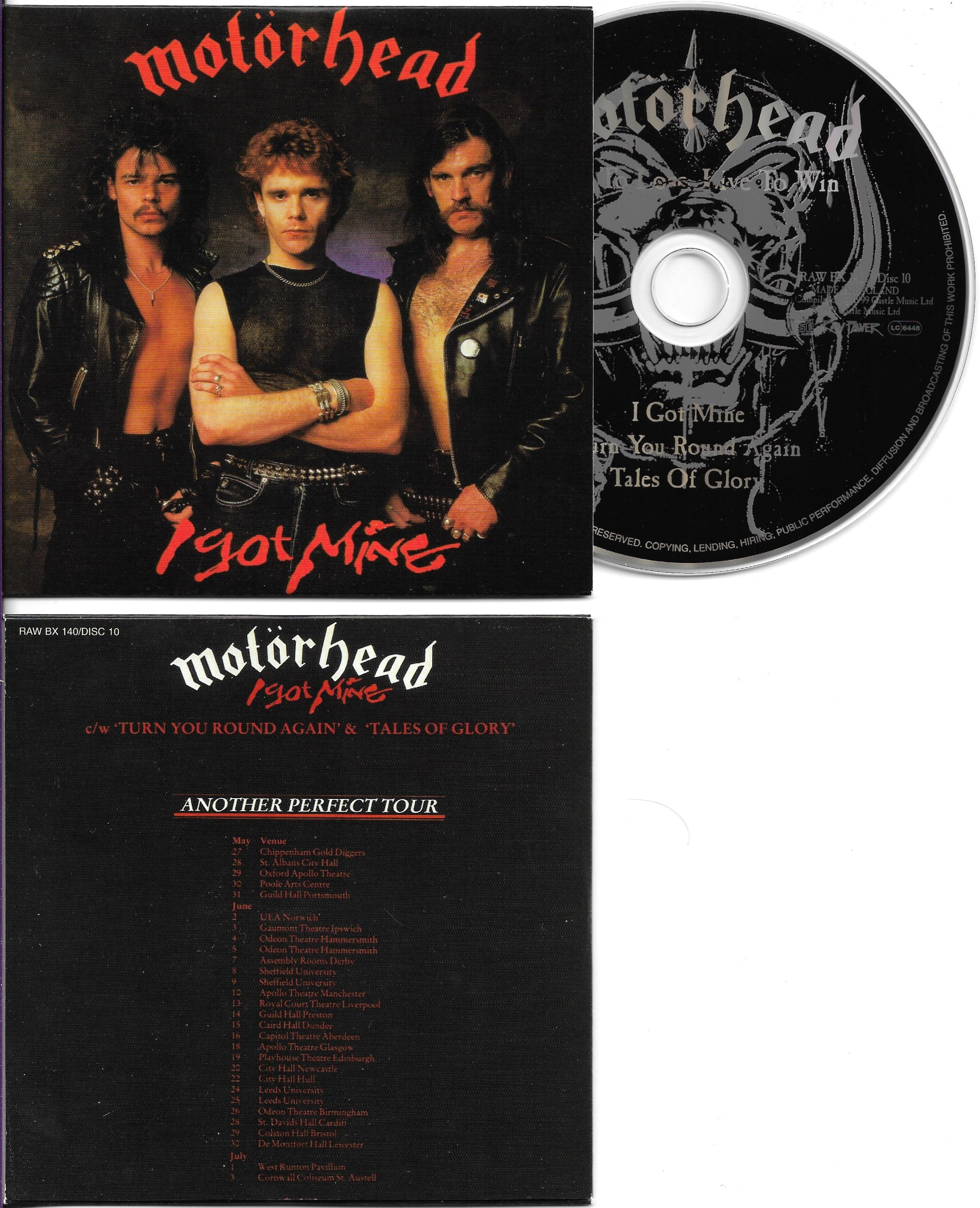 MOTÖRHEAD - I got Mine (12'' Version) - 3-Track CARD SLEEVE - CD single