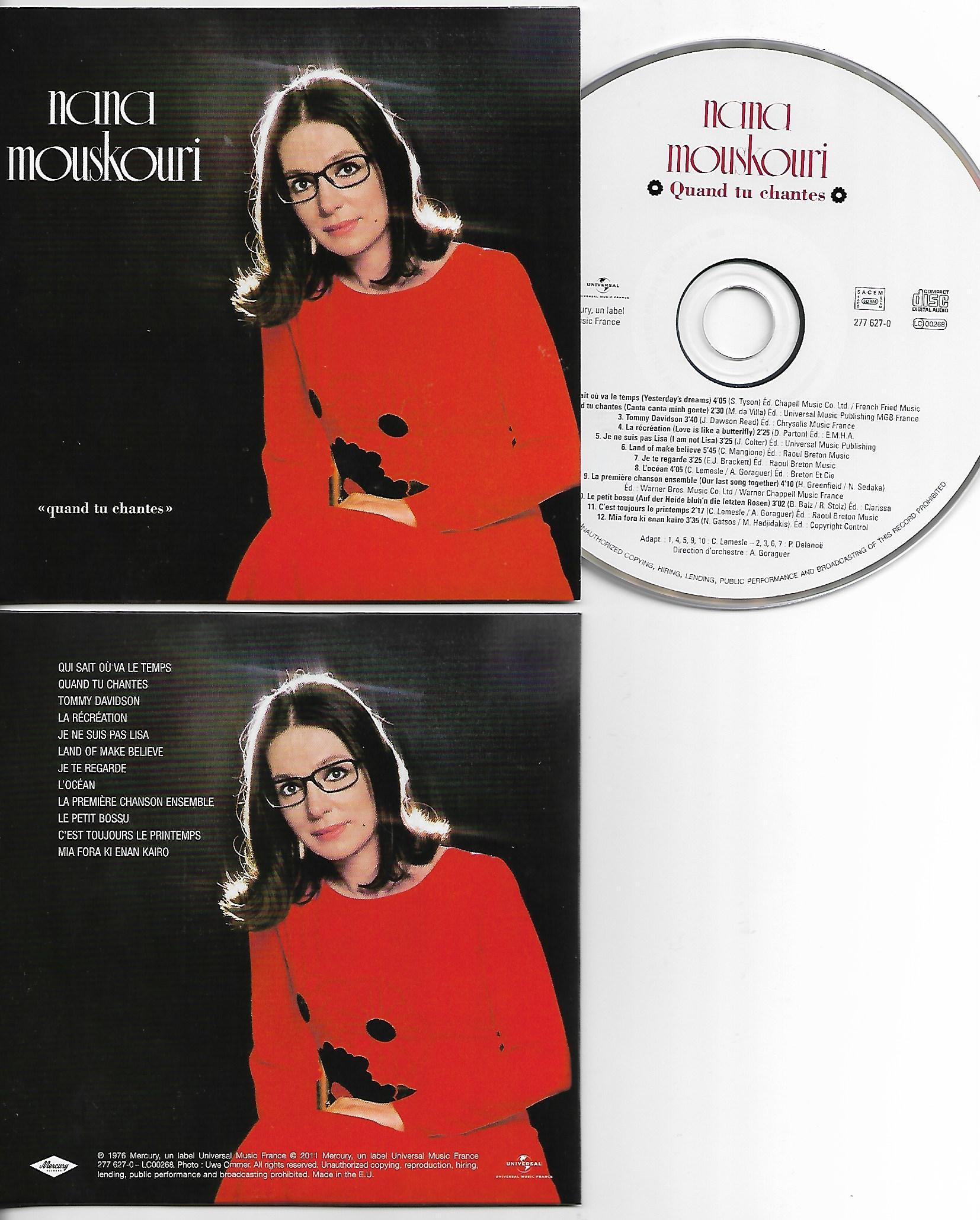 NANA MOUSKOURI - Quand Tu Chantes - MINI LP REPLICA - CARD SLEEVE 12-TRACK - CD