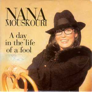 NANA MOUSKOURI - A day in the life of a fool French Promo 1 Track CARD SLEEVE - CD single