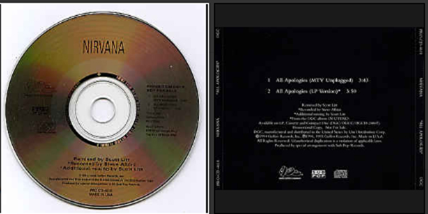NIRVANA - Heart Shaped Box Promo Us 1-track Ecopak