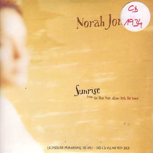 Norah JONES - Sunrise Promo 1-track Card Sleeve