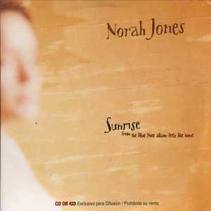 Norah JONES - Sunrise Promo 1 Track Card Sleeve Argentina