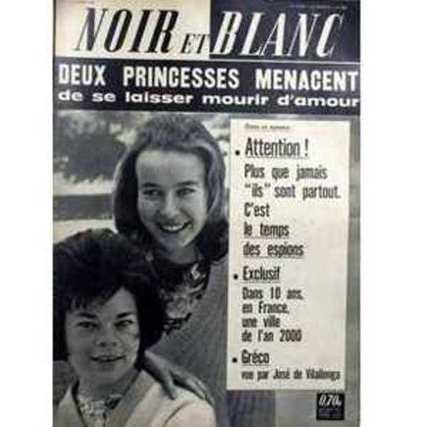 JULIETTE GRÉCO - Noir et Blanc N° 888 - Magazine