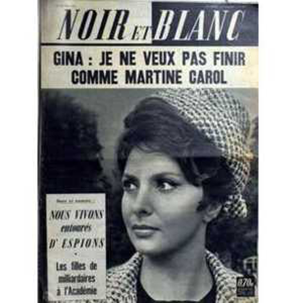 GINA LOLLOBRIGIDA - GILBERT BECAUD - Noir et Blanc N° 921 - CD single