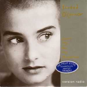 Sinead O'CONNOR - Don't Cry For Me Argentina French Promo 1-track Card Sleeve