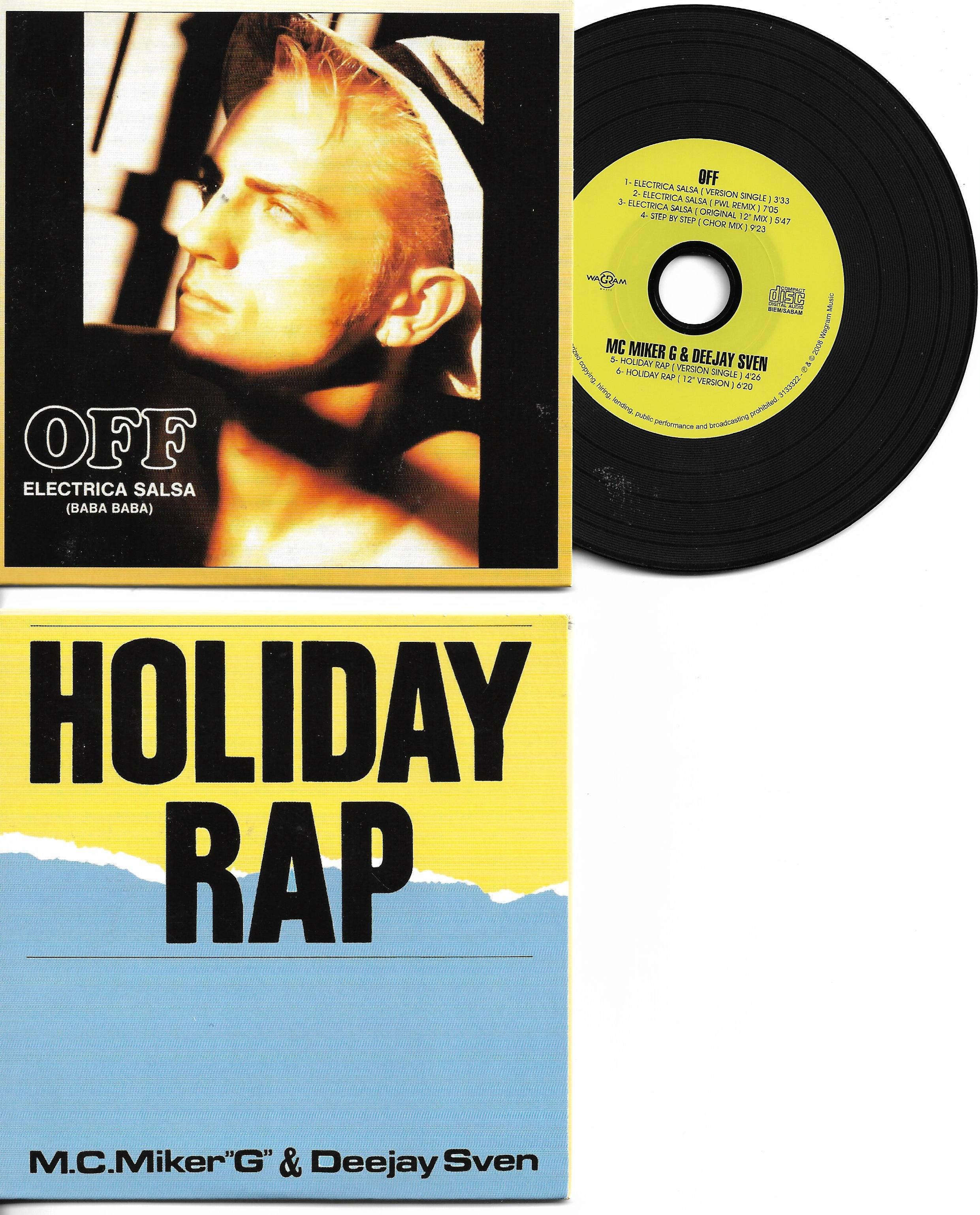 OFF - M.C. MIKER ''G'' & DEEJAY SVEN ( MADONNA ) - Electrica Salsa - Holiday Rap - Special reissue 6-TRACK REMIXES CARD SLEEVE - CD single