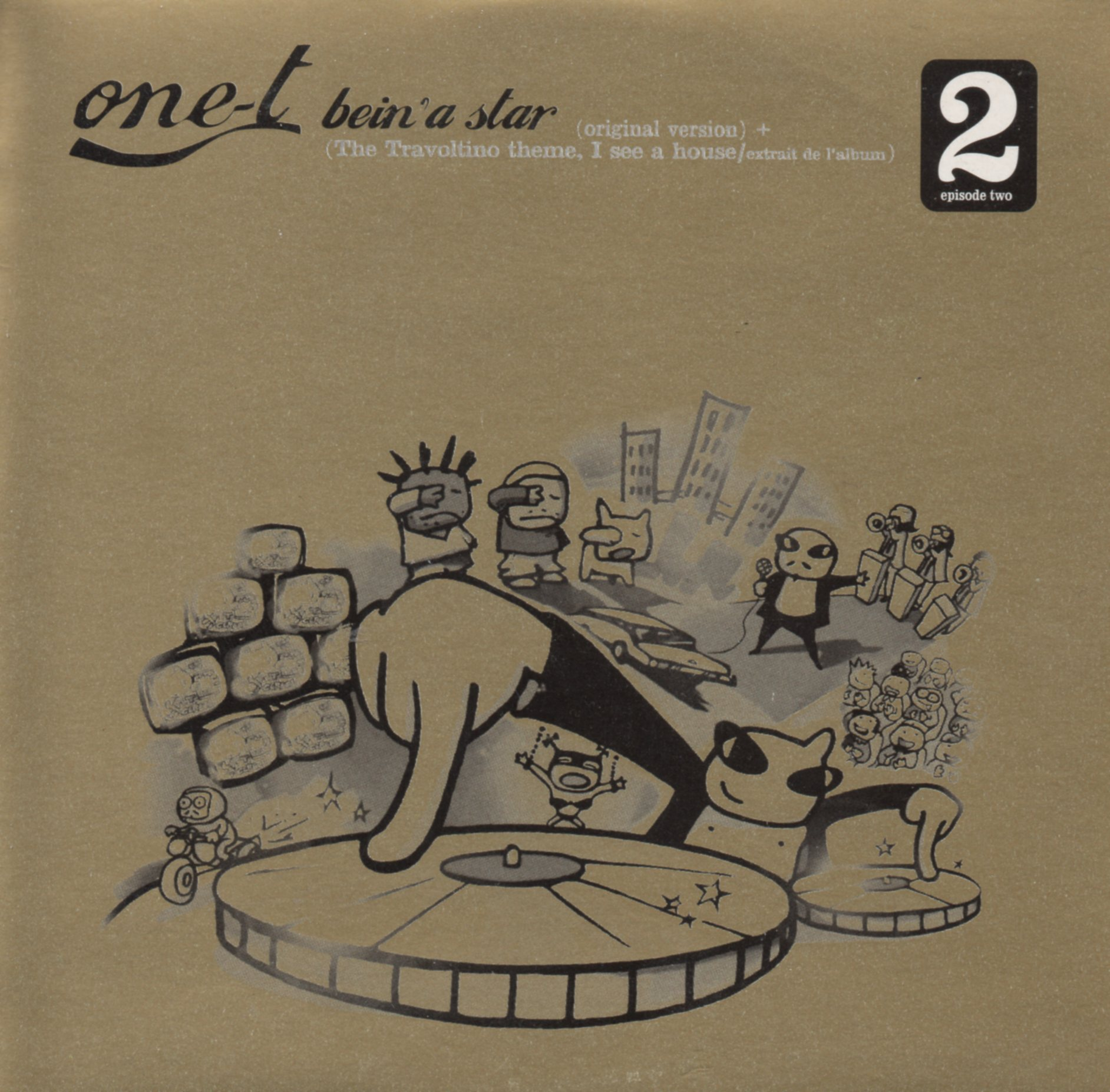 ONE-T - Bein' a star 2-track CARD SLEEVE - CD single