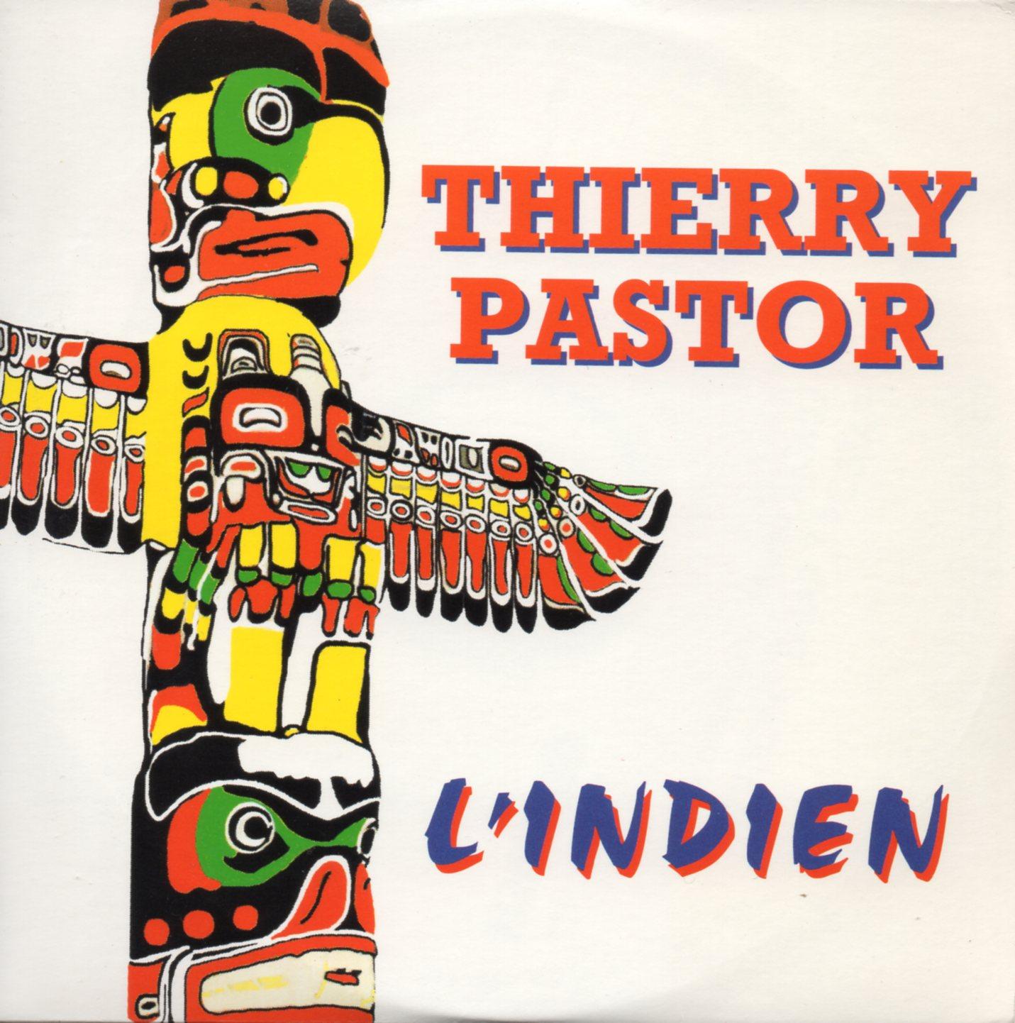 THIERRY PASTOR - L'indien 3-track CARD SLEEVE - CD single