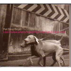 PET SHOP BOYS - I Don't Know What You Want But I Can't Give It Any More Promo 1-track