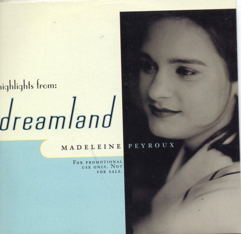 MADELEINE PEYROUX - Highlights from Dreamland Promo sampler 3-track CARD SLEEVE - CD single