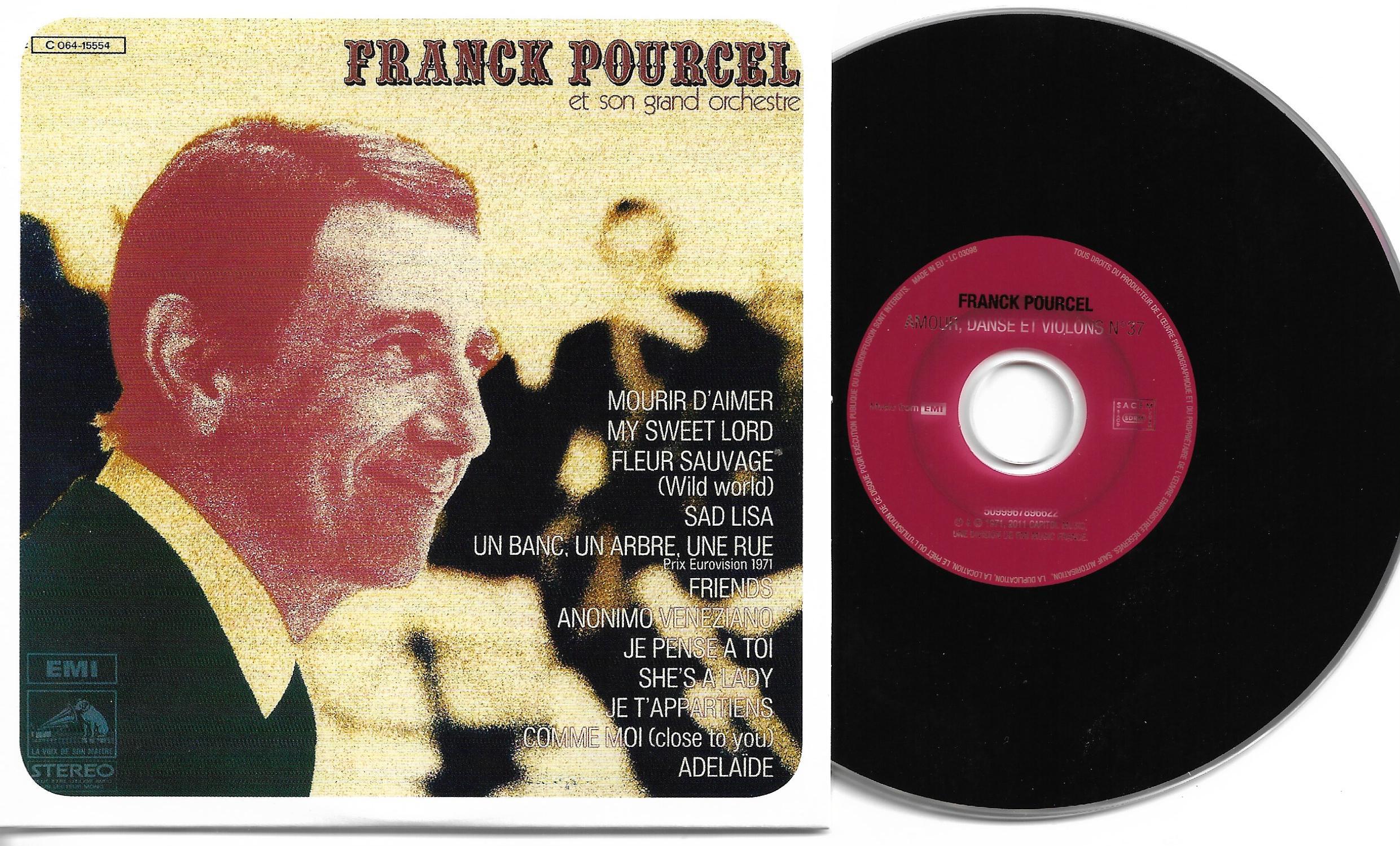 Franck POURCEL - Amour Danse Et Violons N°37 (1971 - Mini Lp Replica - 12-track Card Sleeve)