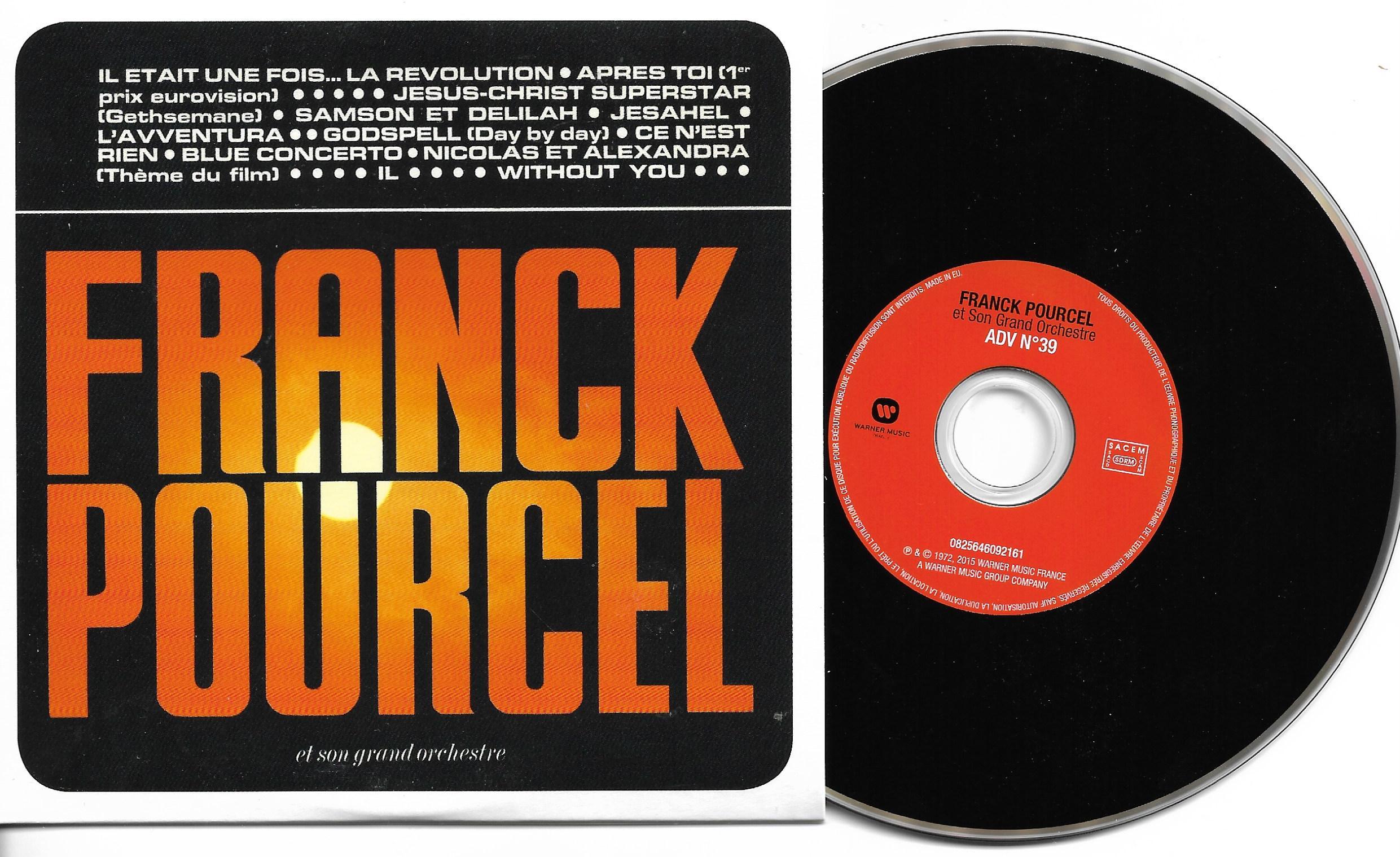 Franck POURCEL - Amour Danse Et Violons N°39 (1972 - Mini Lp Replica - 12-track Card Sleeve)