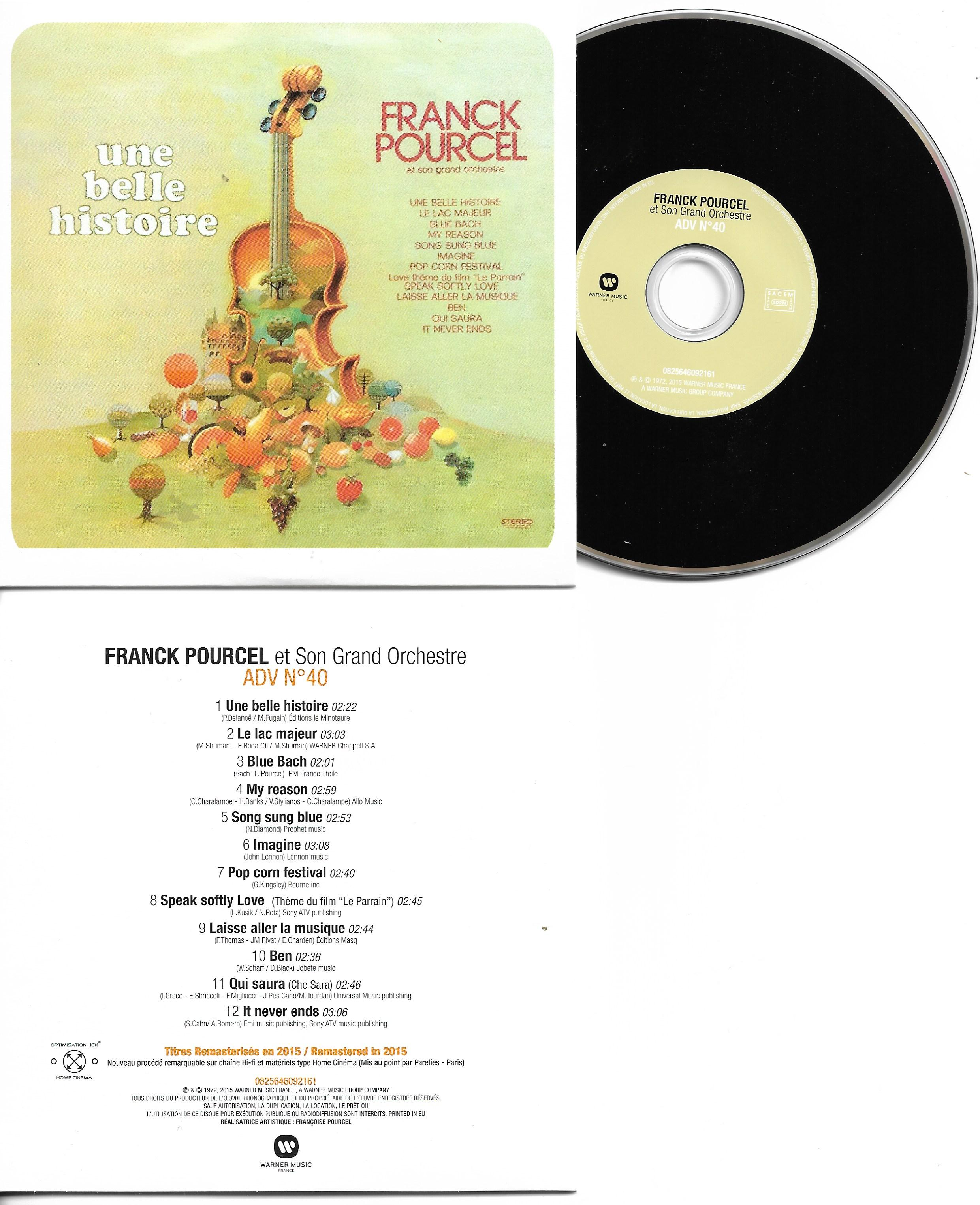 Franck POURCEL - Amour Danse Et Violons N°40 (1972 - Mini Lp Replica - 12-track Card Sleeve)