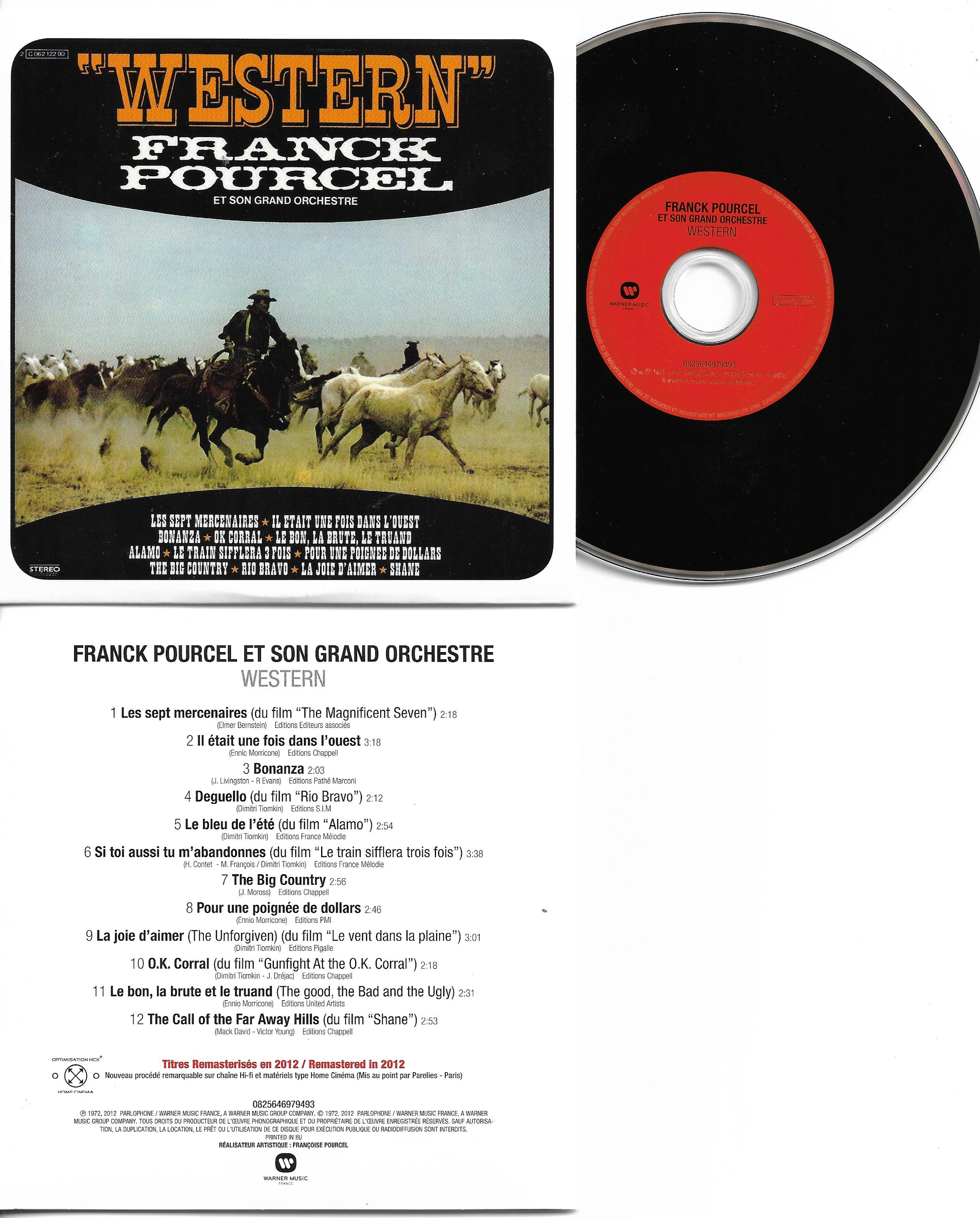 Franck POURCEL - Western - Themes De Films (1972 - Mini Lp Replica Card Sleeve - 12-track)