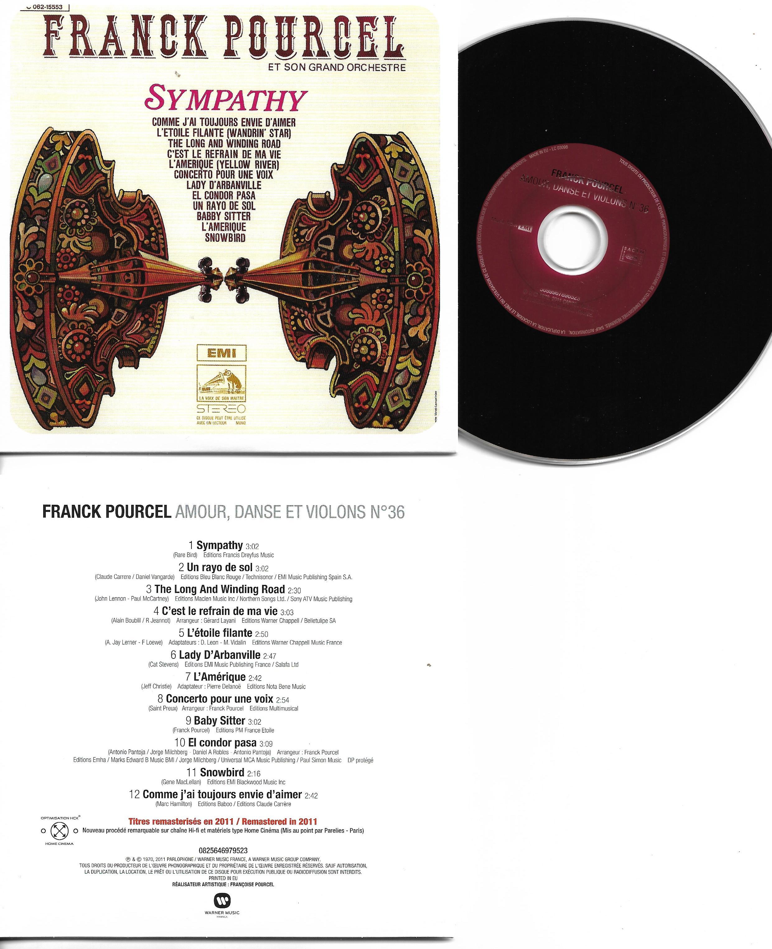 Franck POURCEL - Amour Danse Et Violons N°36 (1970 - Mini Lp Replica - 12-track Card Sleeve)