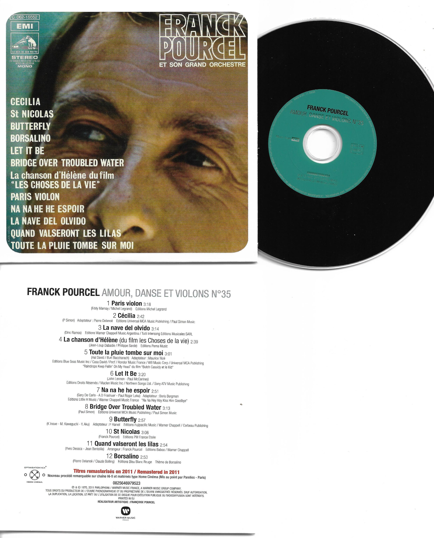 Franck POURCEL - Amour Danse Et Violons N°35 (1970 - Mini Lp Replica - 12-track Card Sleeve)