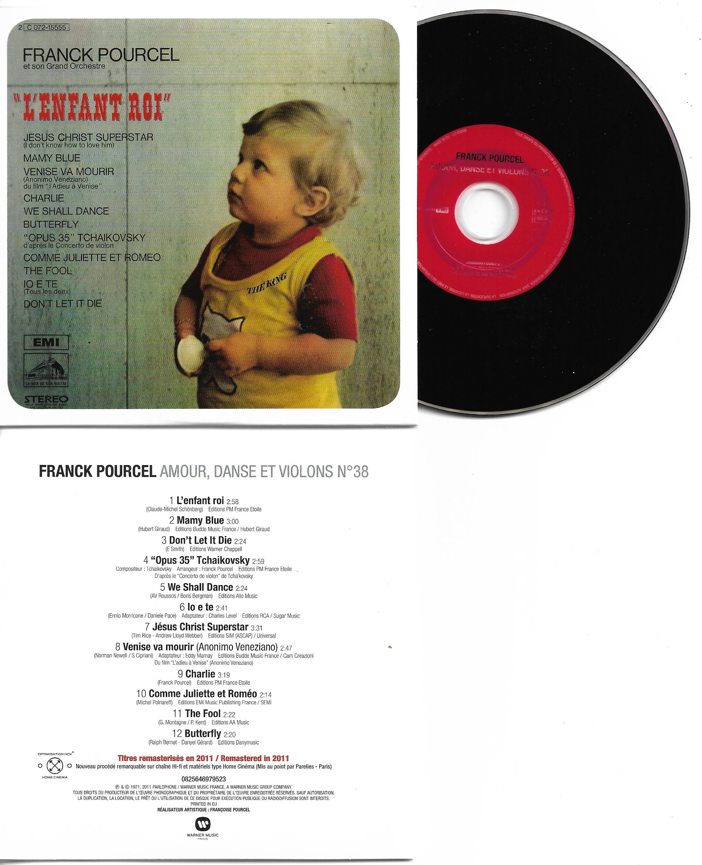 Franck POURCEL - Amour Danse Et Violons N°38 (1971 - Mini Lp Replica - 12-track Card Sleeve)