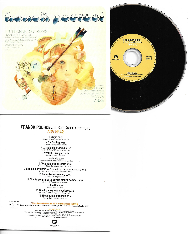 Franck POURCEL - Amour Danse Et Violons N°42 (1973 - Mini Lp Replica - 12-track Card Sleeve)
