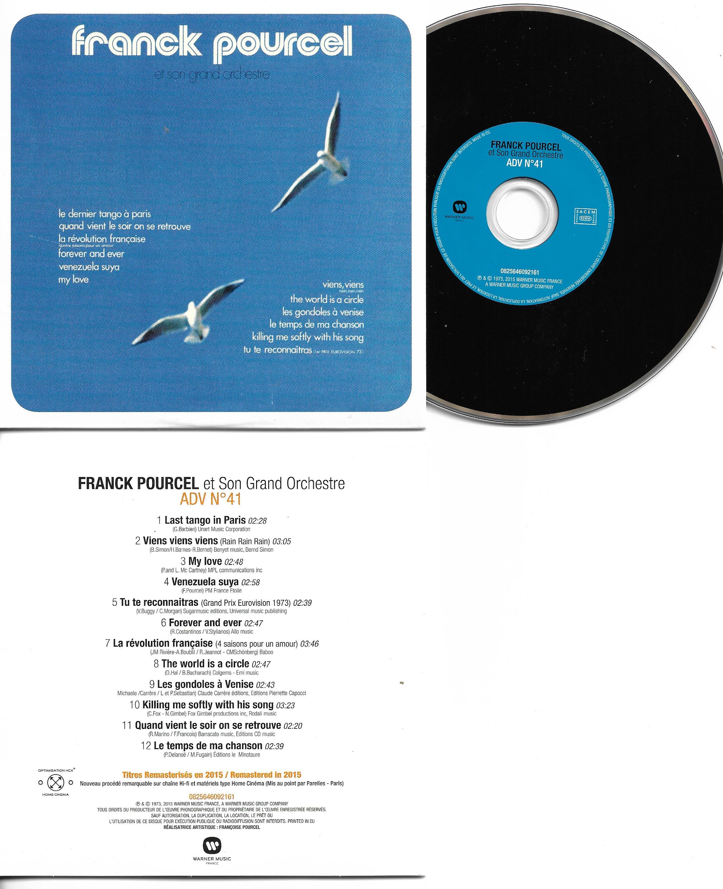 Franck POURCEL - Amour Danse Et Violons N°41 (1973 - Mini Lp Replica - 12-track Card Sleeve)