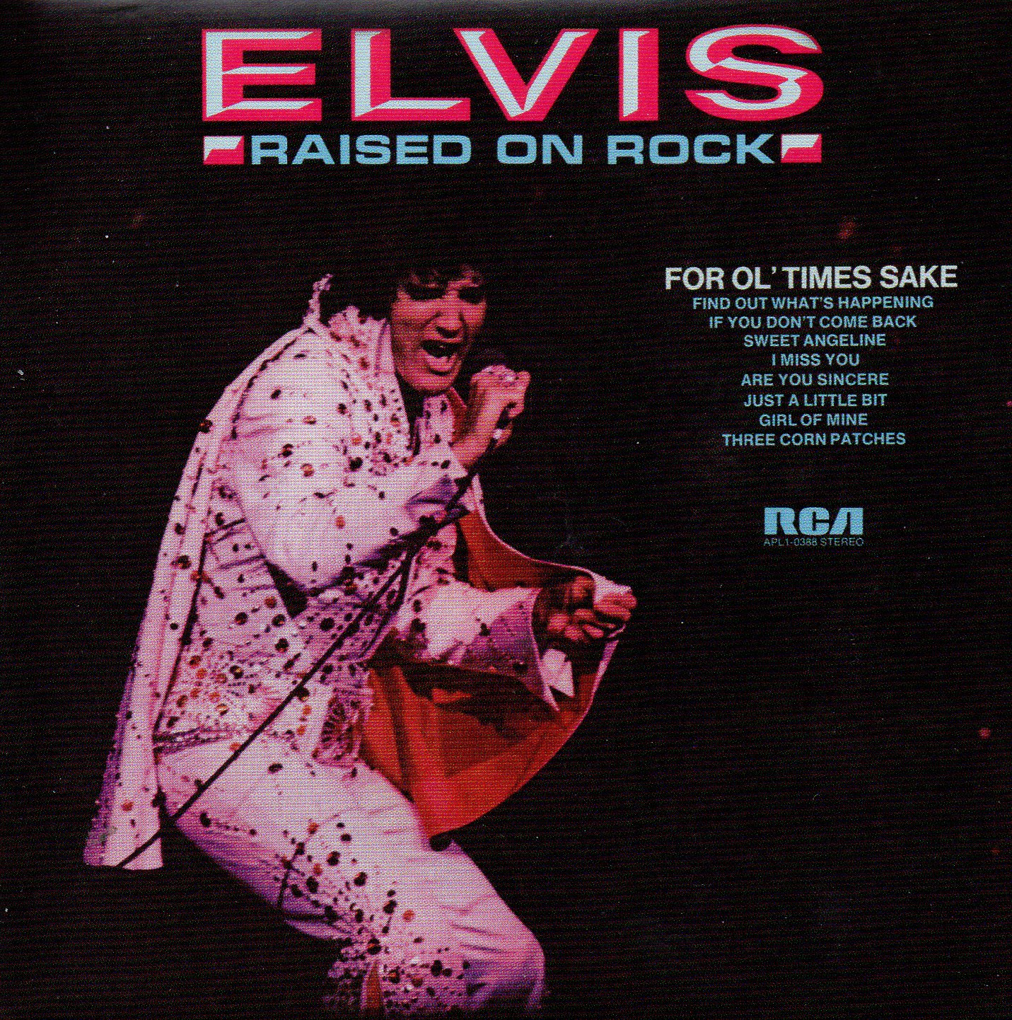 ELVIS PRESLEY - Raised On Rock / For Ol' Times Sake  (1973) - Mini LP REPLICA - 10-track CARD SLEEVE - CD
