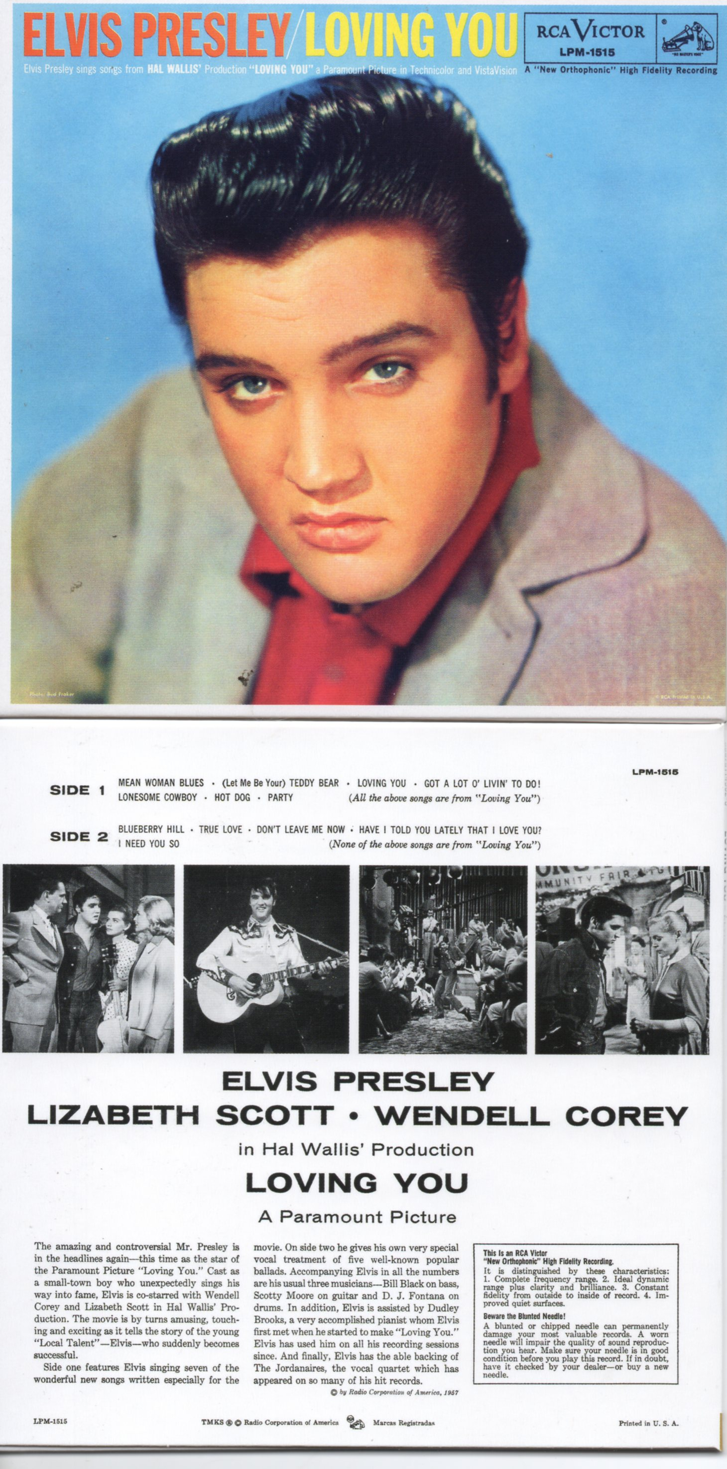 Elvis PRESLEY - Loving You (1957 - Mini Lp Replica - 13-track Card Sleeve)