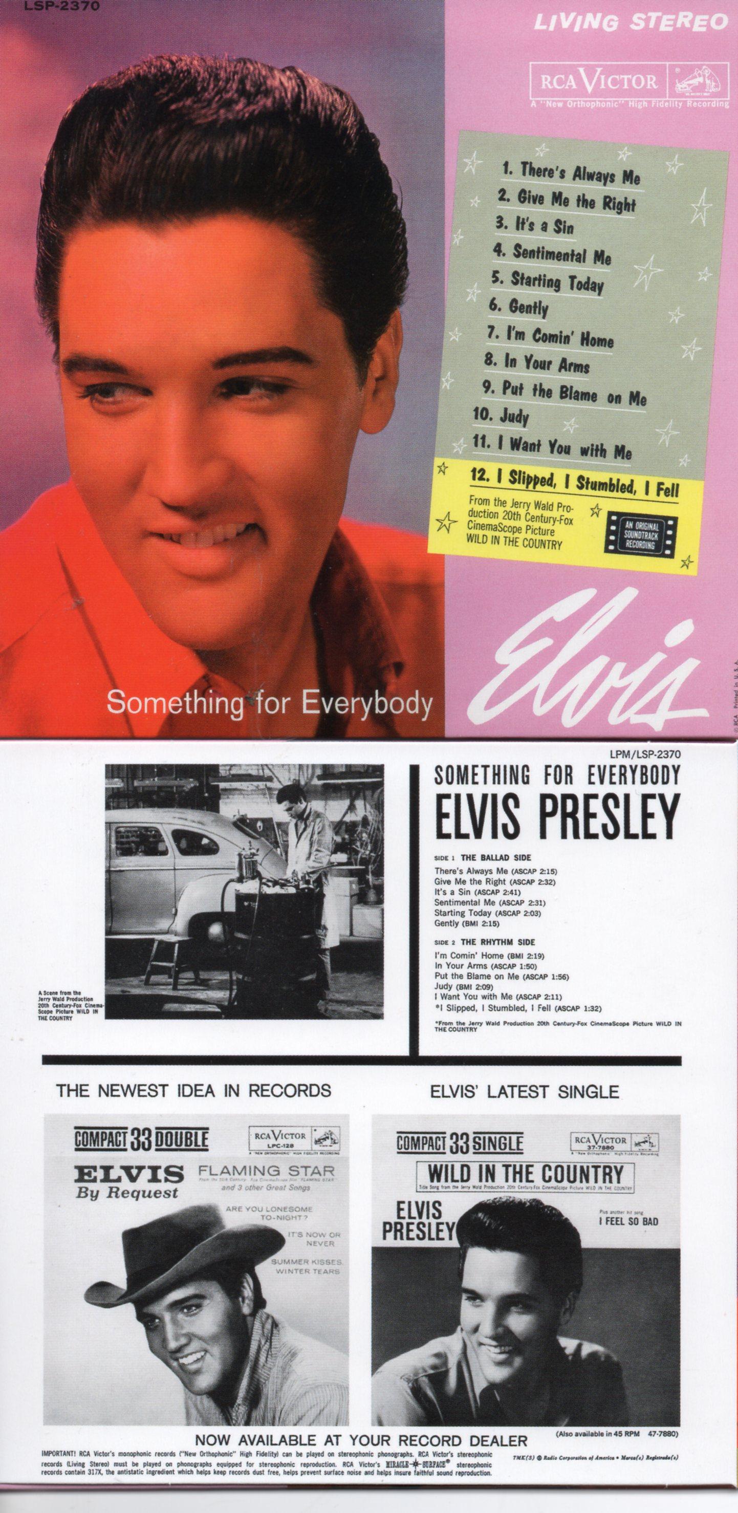 Elvis PRESLEY - Something For Everybody (1961 - Mini Lp Replica - 12-track Card Sleeve)