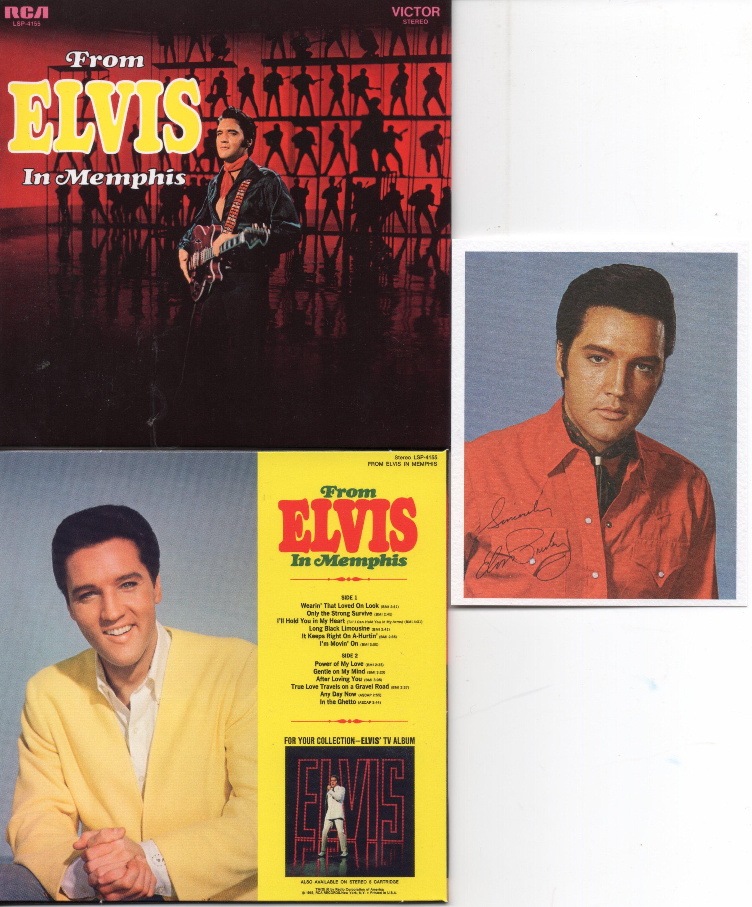 Elvis PRESLEY - From Elvis In Memphis (1969 - Mini Lp Replica - 16-track Card Sleeve Inc Photo)