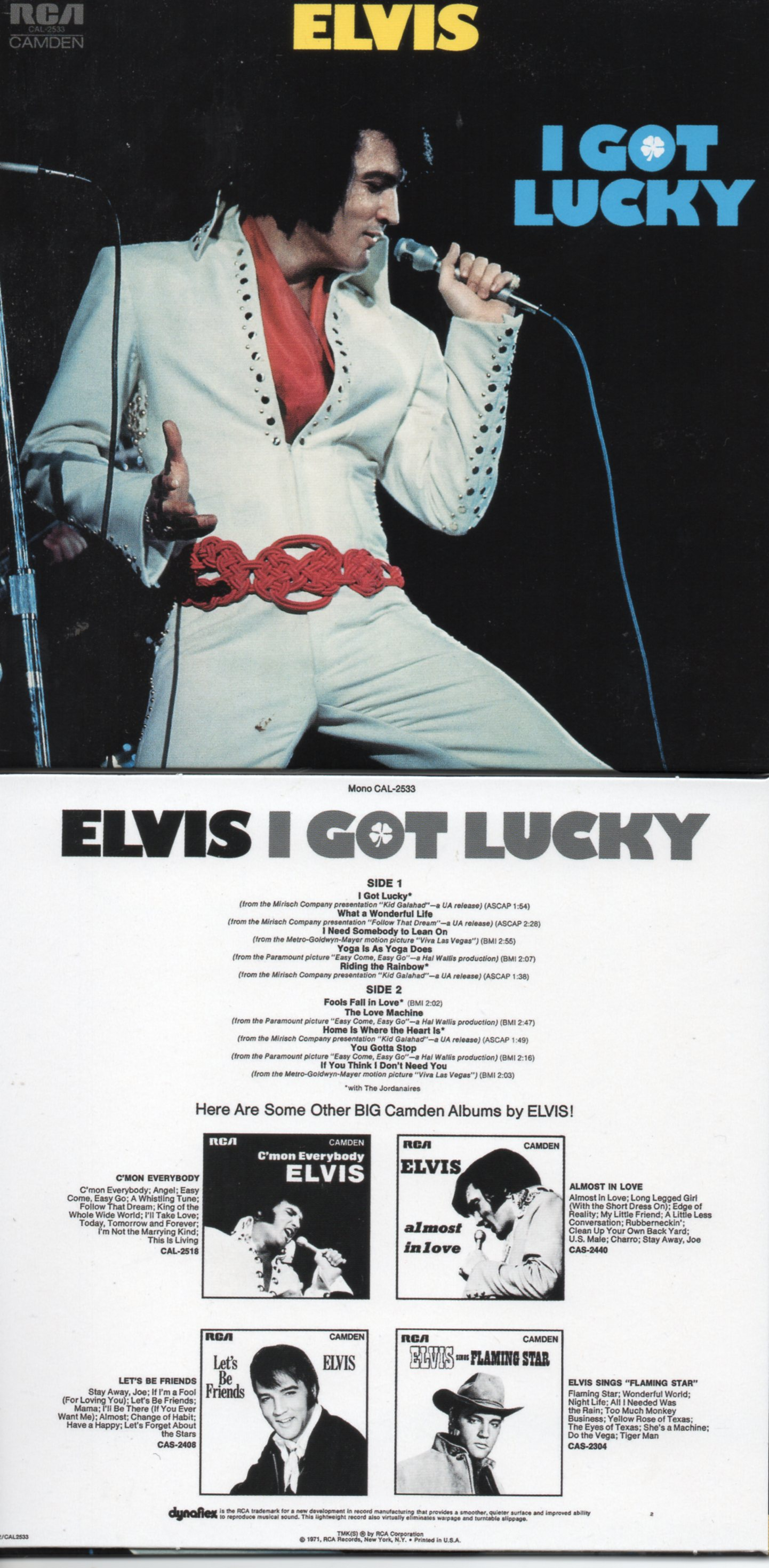 Elvis PRESLEY - I Got Lucky (1971 - Mini Lp Replica -12-track Card Sleeve)