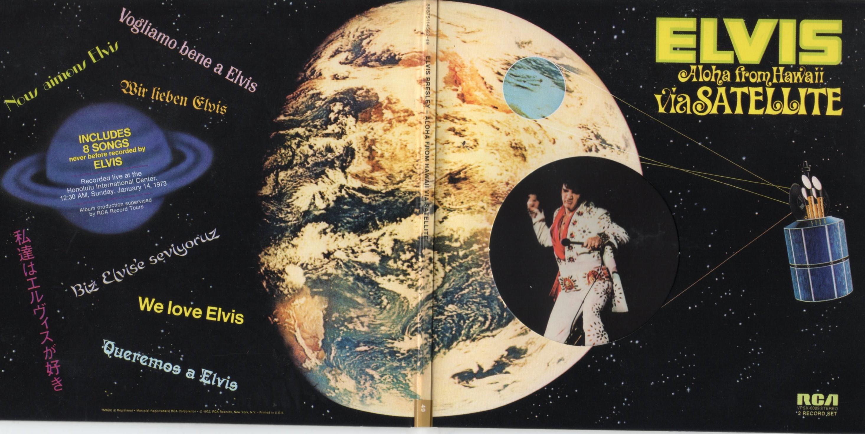 Elvis PRESLEY - Aloha From Hawaii Via Satellite (1973 - Mini Lp Gatefold Replica -29-track Card Sleeve)