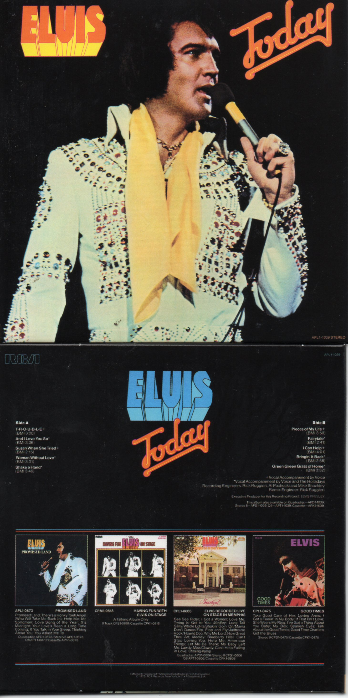 Elvis PRESLEY - Today (1975 - Mini Lp Replica - 10-track Card Sleeve)
