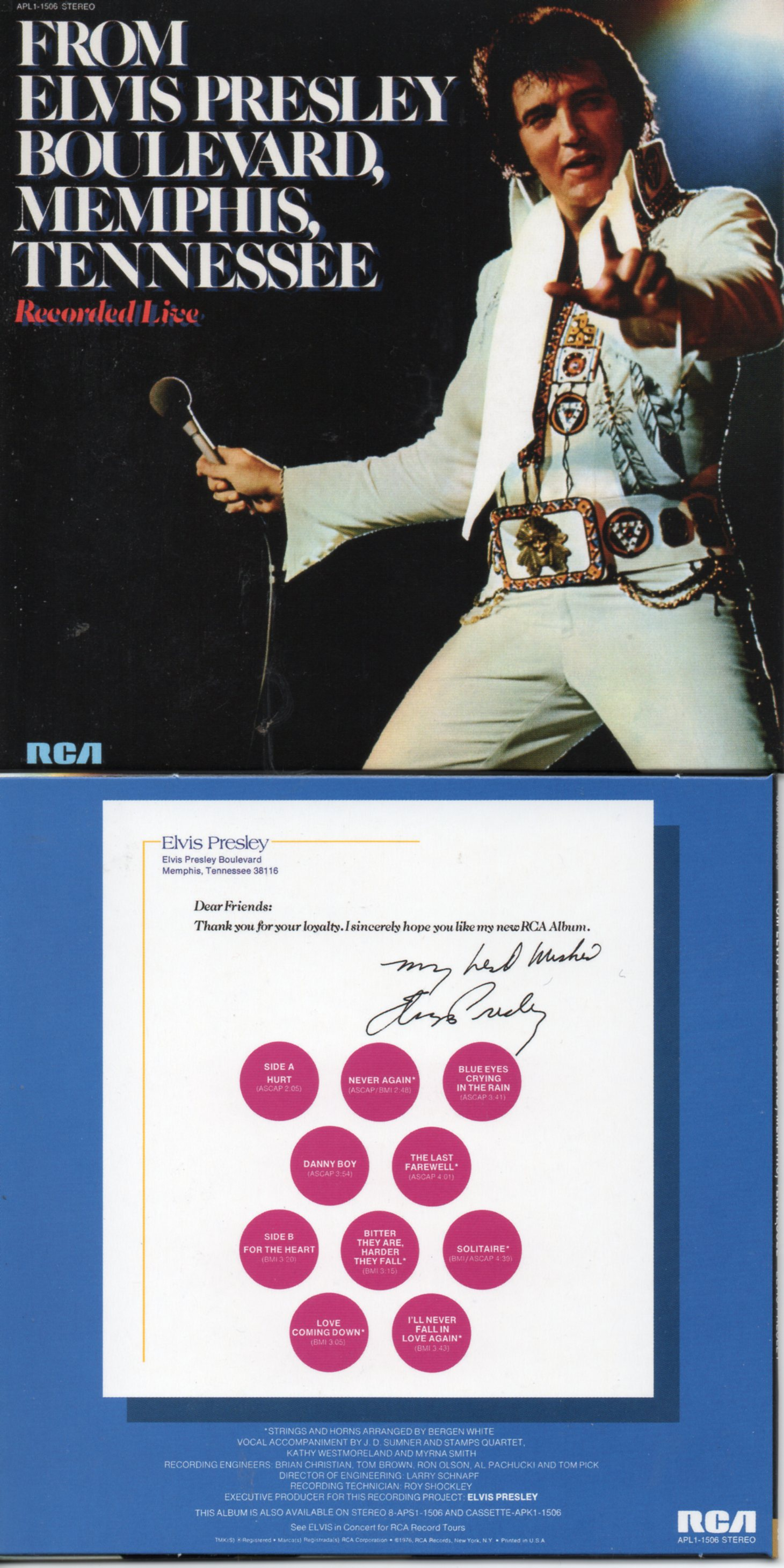 Elvis PRESLEY - From Elvis Presley Boulevard, Memphis, Tennessee (1976 - Mini Lp Replica - 10-track Card Sleeve)