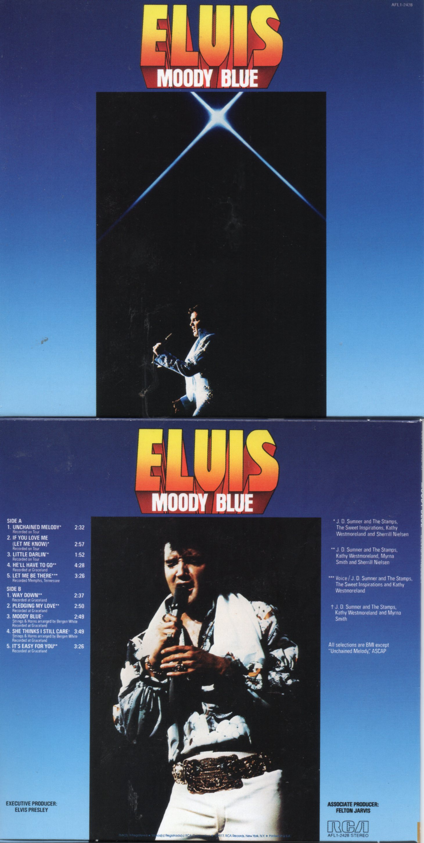 Elvis PRESLEY - Moody Blue (1977 - Mini Lp Replica - 10-track Card Sleeve)