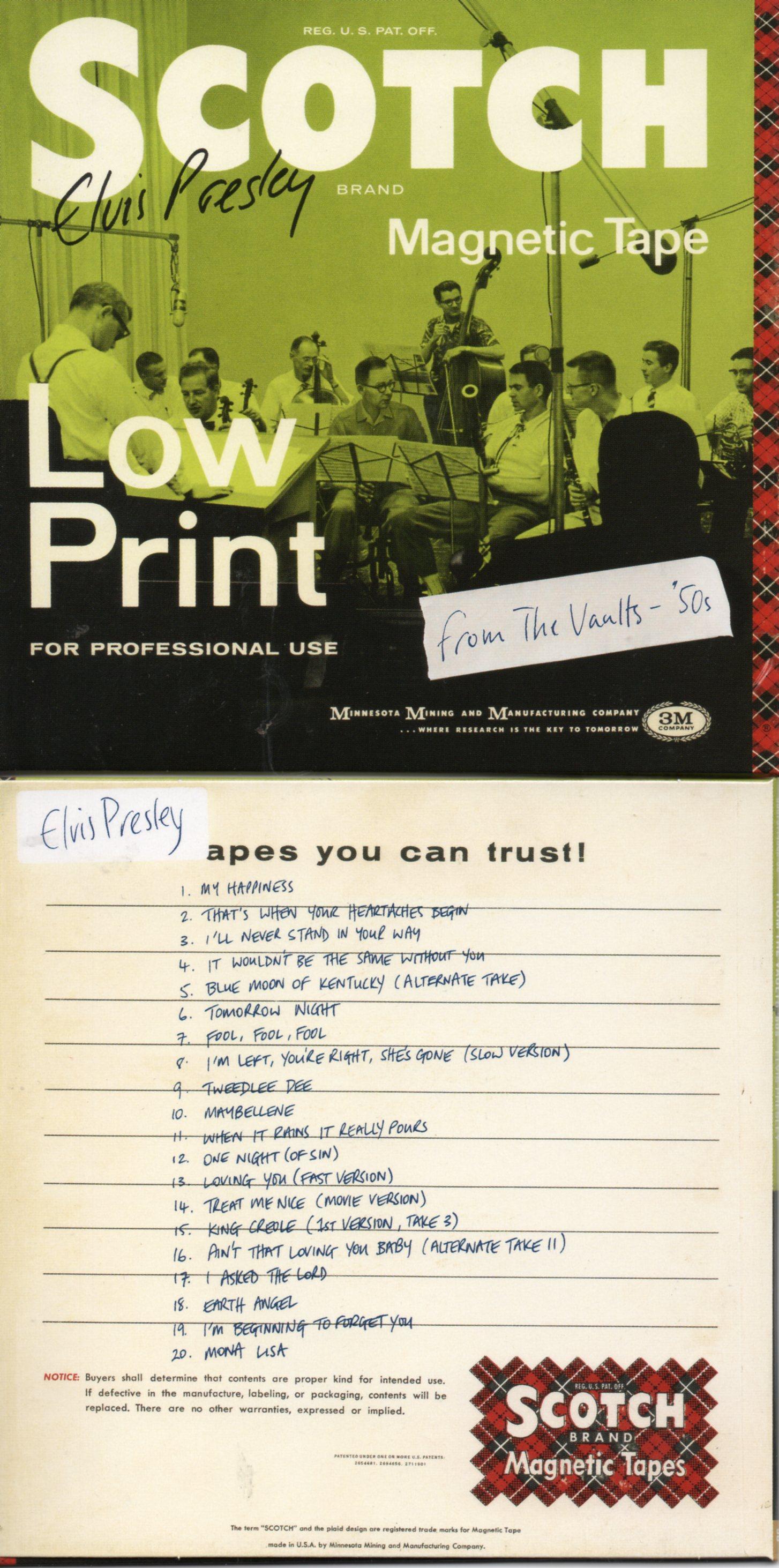 Elvis PRESLEY - From The Vaults '50s - Cardboard Sleeve - 20-track Rare Tracks