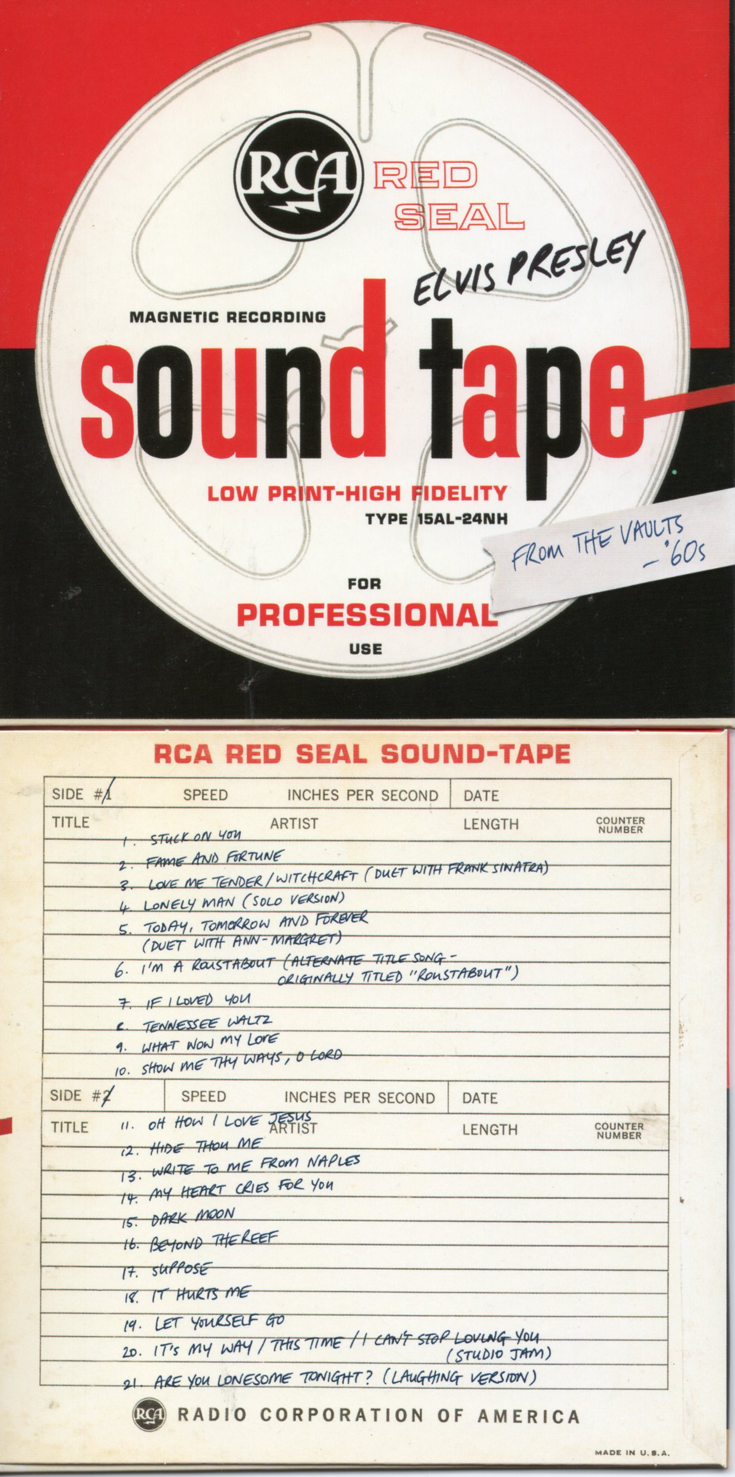 Elvis PRESLEY - From The Vaults '60s - Cardboard Sleeve - 21-track Rare Tracks