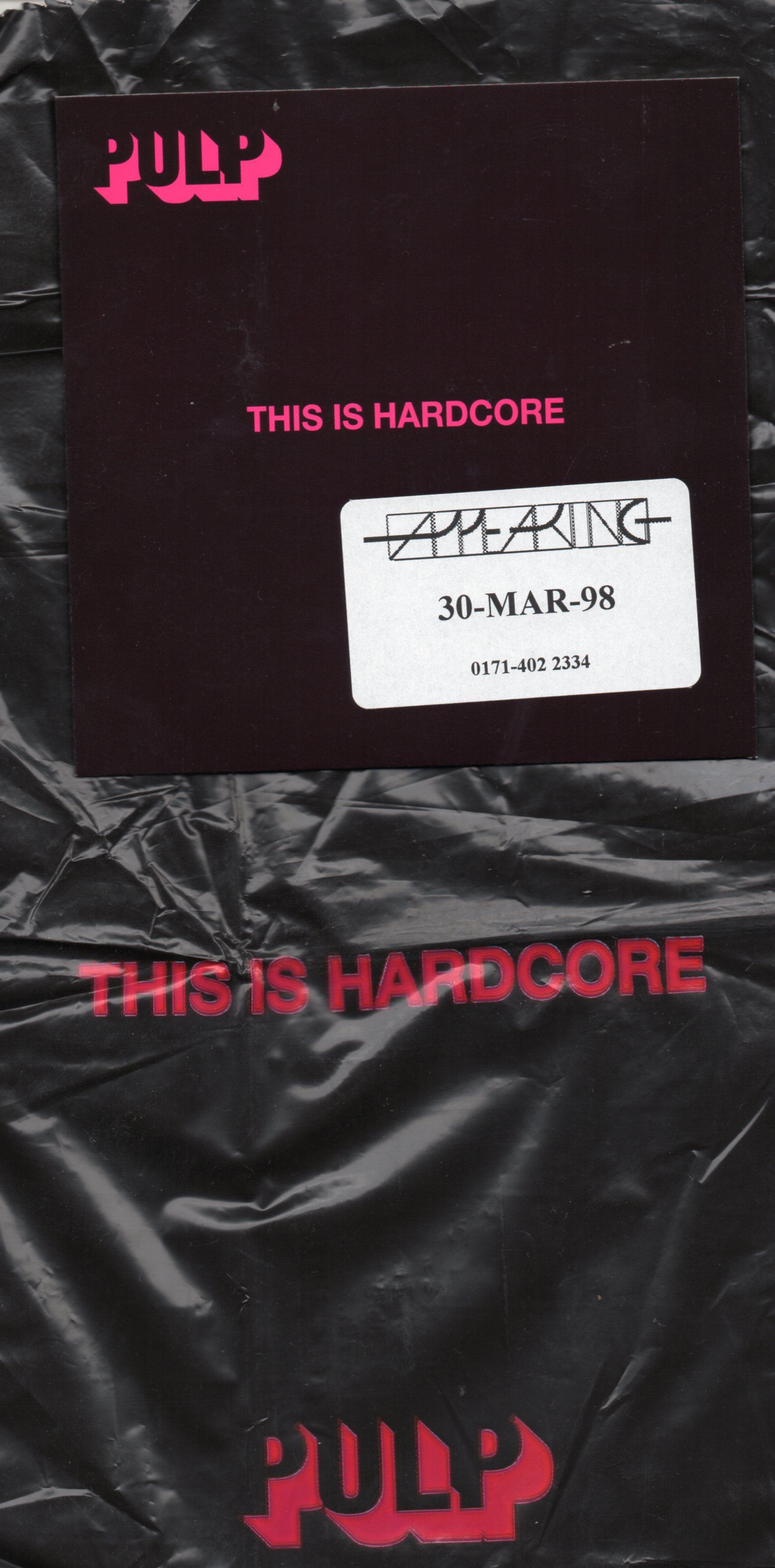 PULP - This Is Hardcore UK Promo CD album with plastic bag! - CD