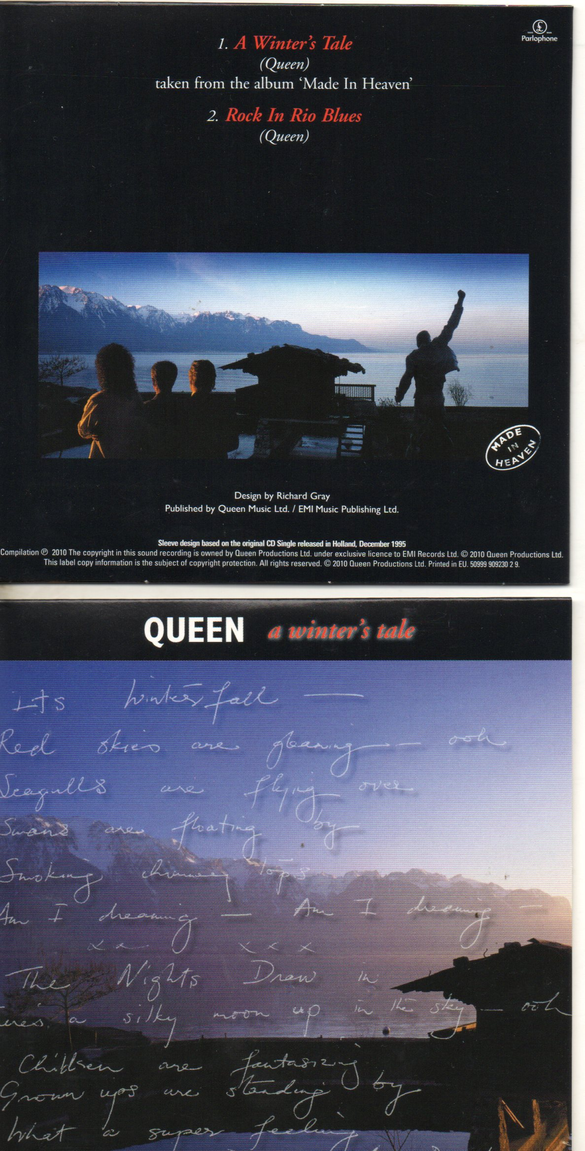 QUEEN - A Winter's Tale 2-track Card Sleeve