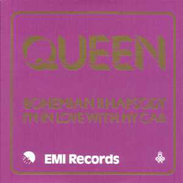 QUEEN - Bohemian rhapsody  + UK + 2-track CARD SLEEVE - Reedition du 45t original -  - reissue of  original  - CD single