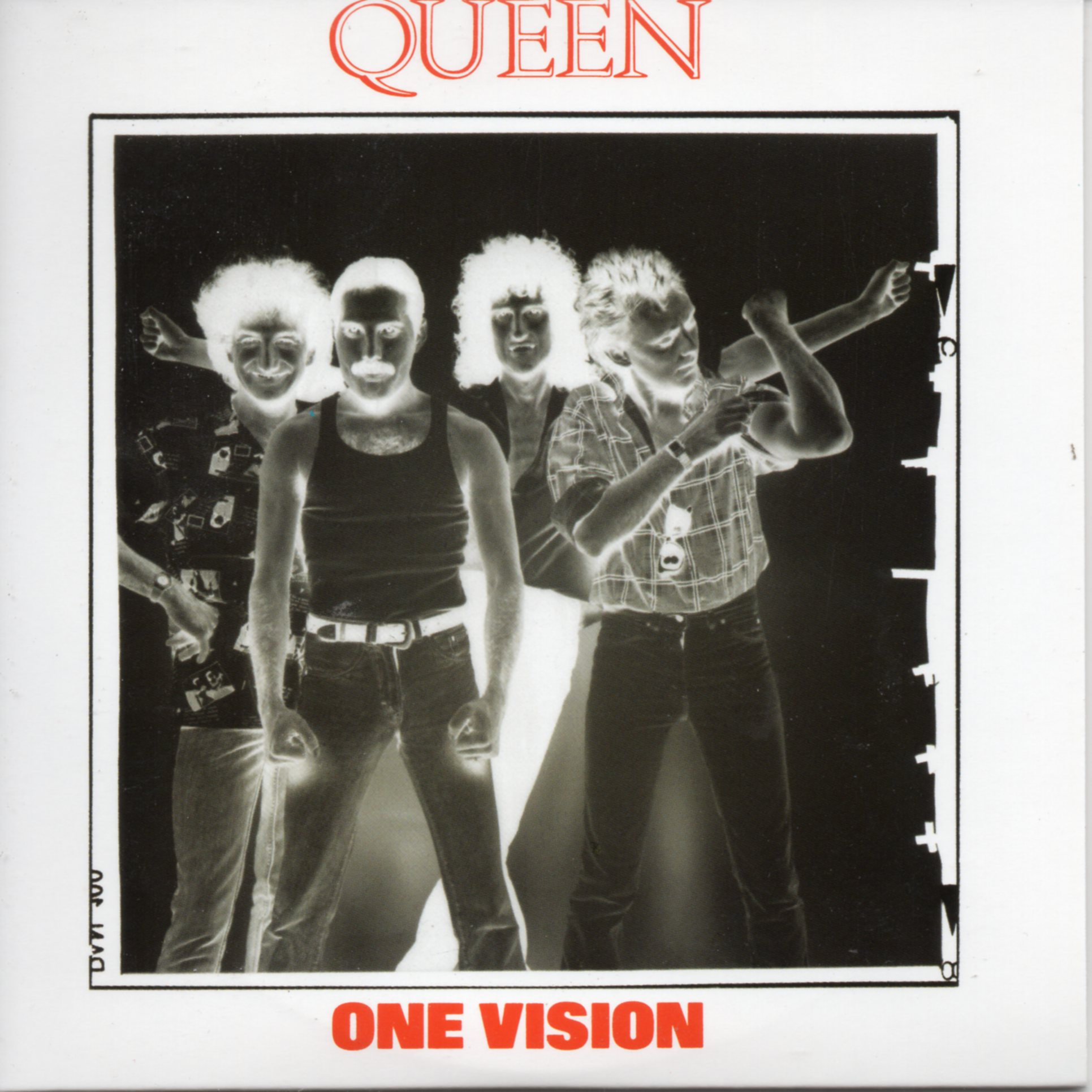 QUEEN - One Vision + Uk + 2-track Card Sleeve - Reedition Du 45t Original - - Reissue Of Original 7""