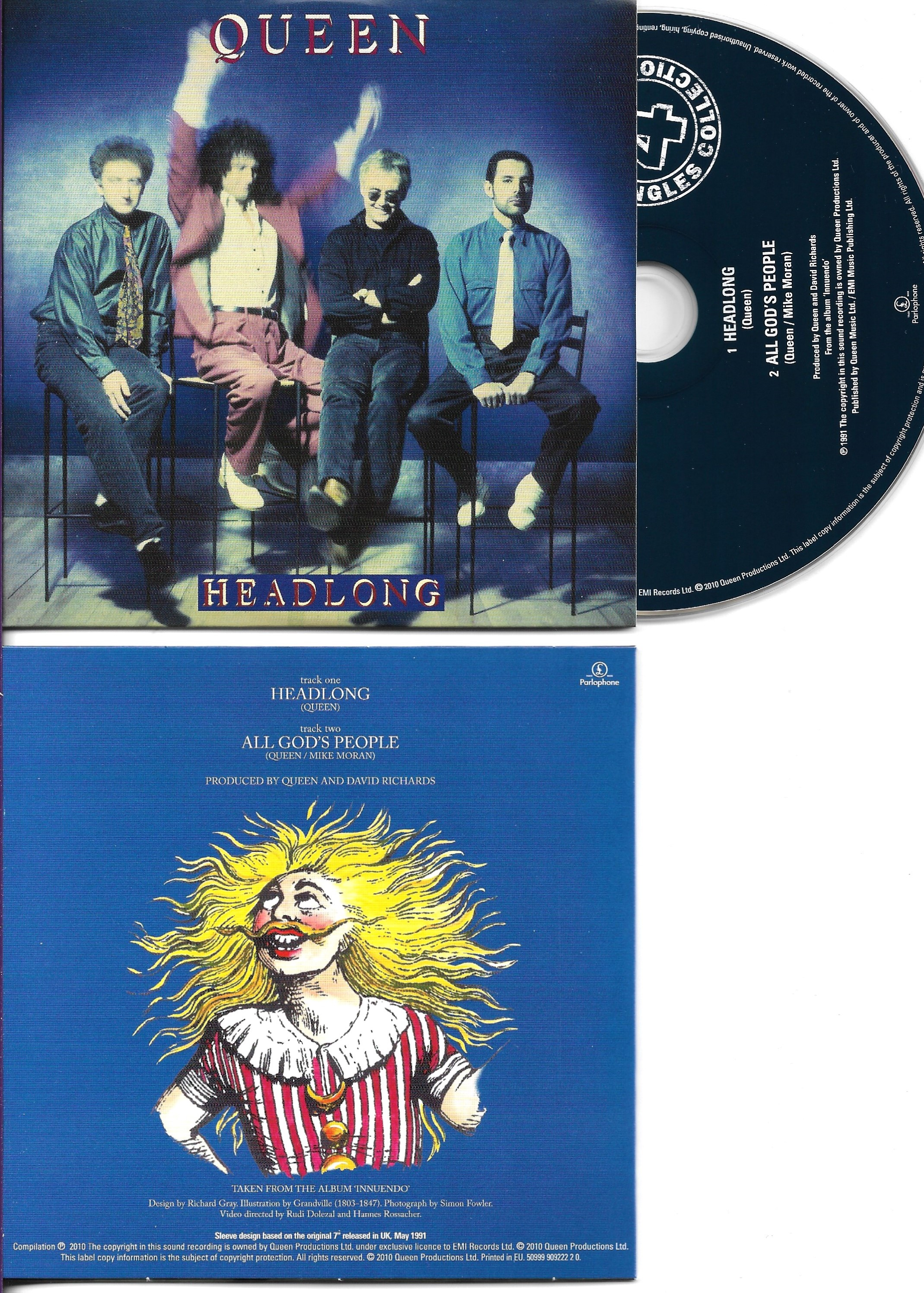 QUEEN - Headlong + Uk + 2-track Card Sleeve - - Reedition Du 45t Original - - Reissue Of Original 7""