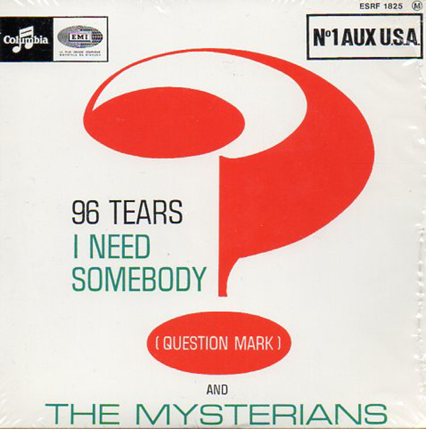 (QUESTION MARK) AND THE MYSTERIANS - 96 tears - EP - 4-track CARD SLEEVE - French sleeve - CD single