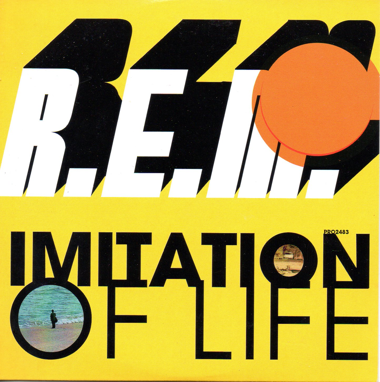 R.E.M. - Imitation Of Life Promo 1 Track Card Sleeve